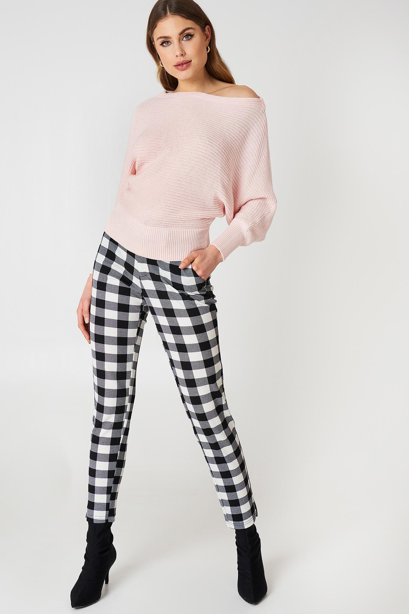Off Shoulder Knitted Sweater NA-KD.COM