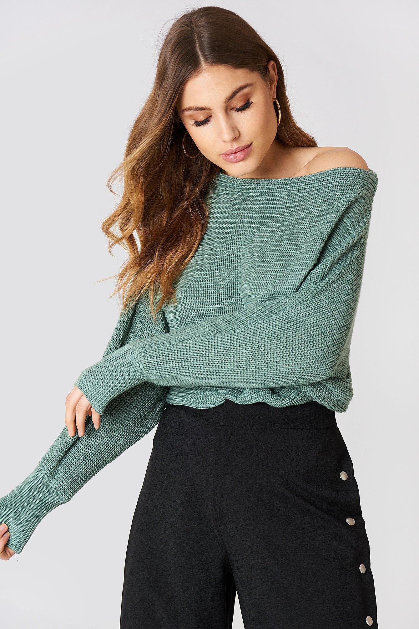 Dzianinowy sweter z odkrytymi ramionami NA-KD.COM