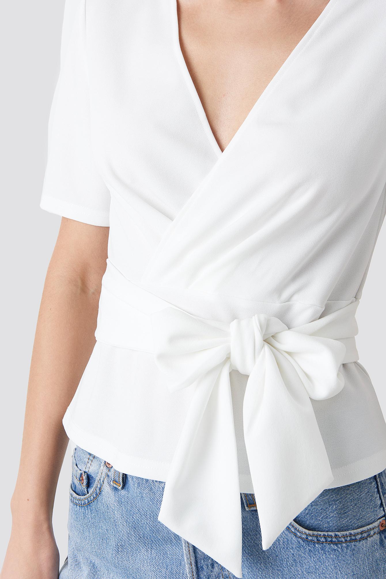 Wrap Tie Top NA-KD.COM