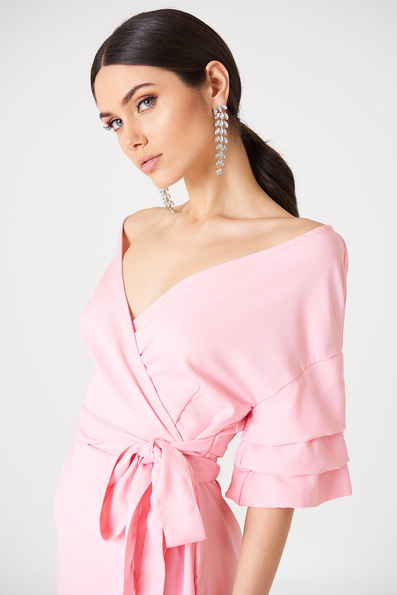Off the Shoulder Pink Dresses