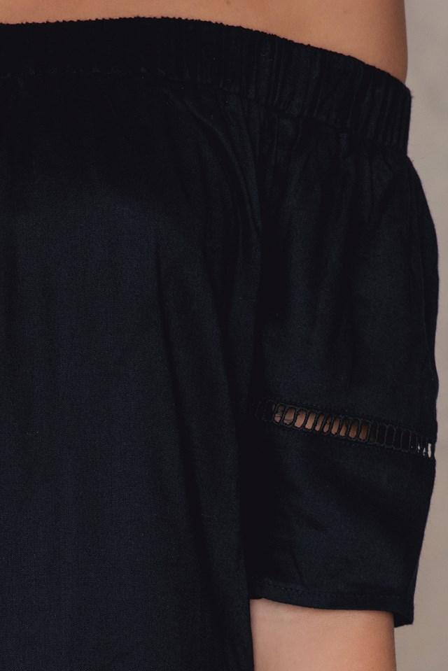 Off Shoulder Tunic Black