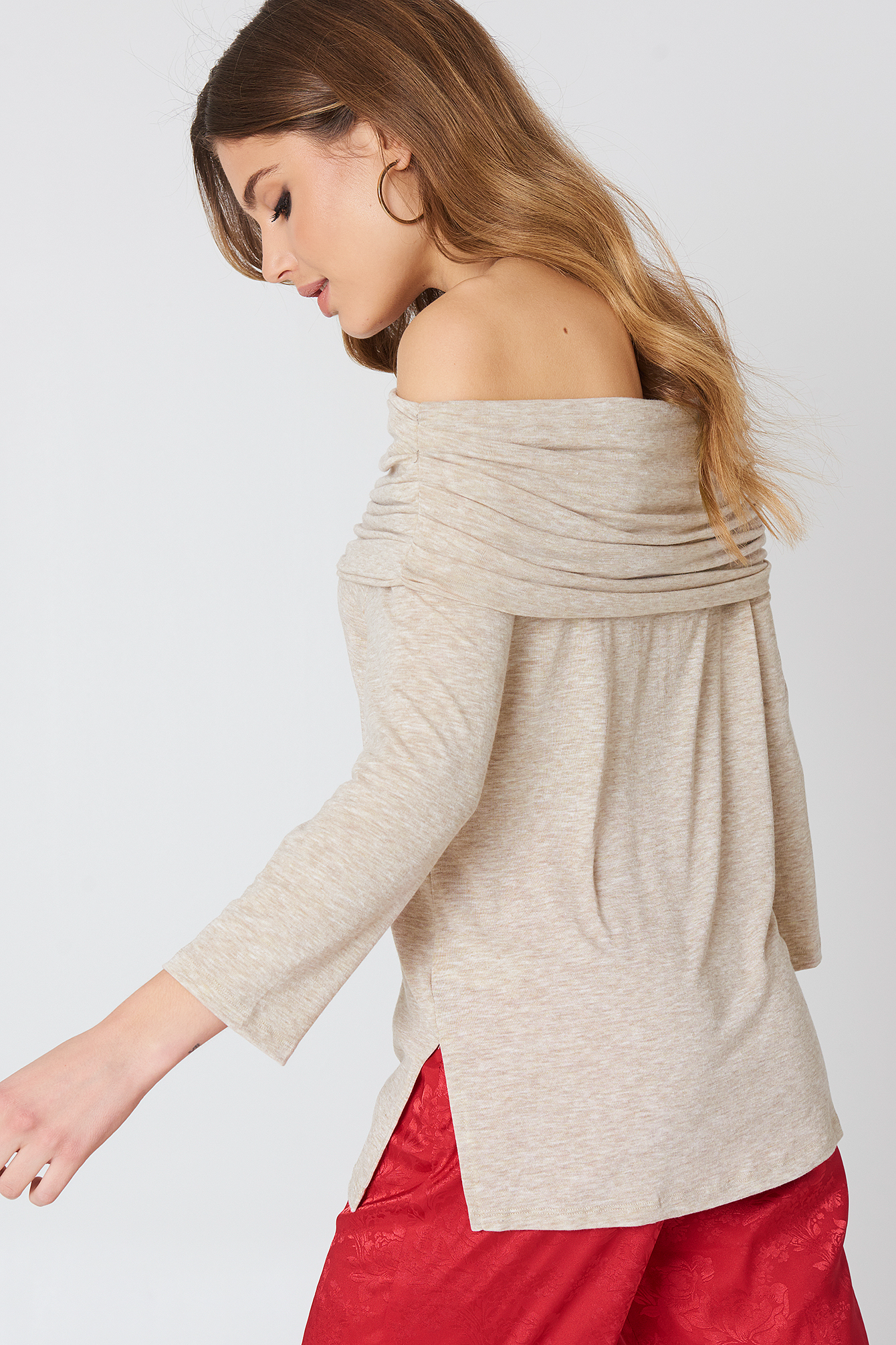 Offshoulder Light Knitted Sweater NA-KD.COM