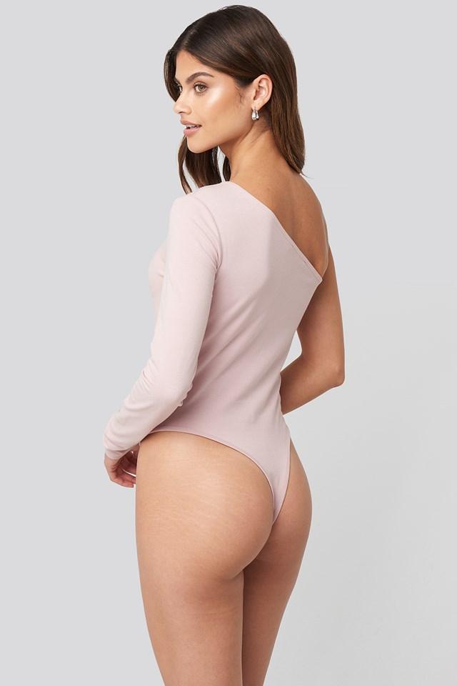 One Shoulder Body Dusty Light Pink