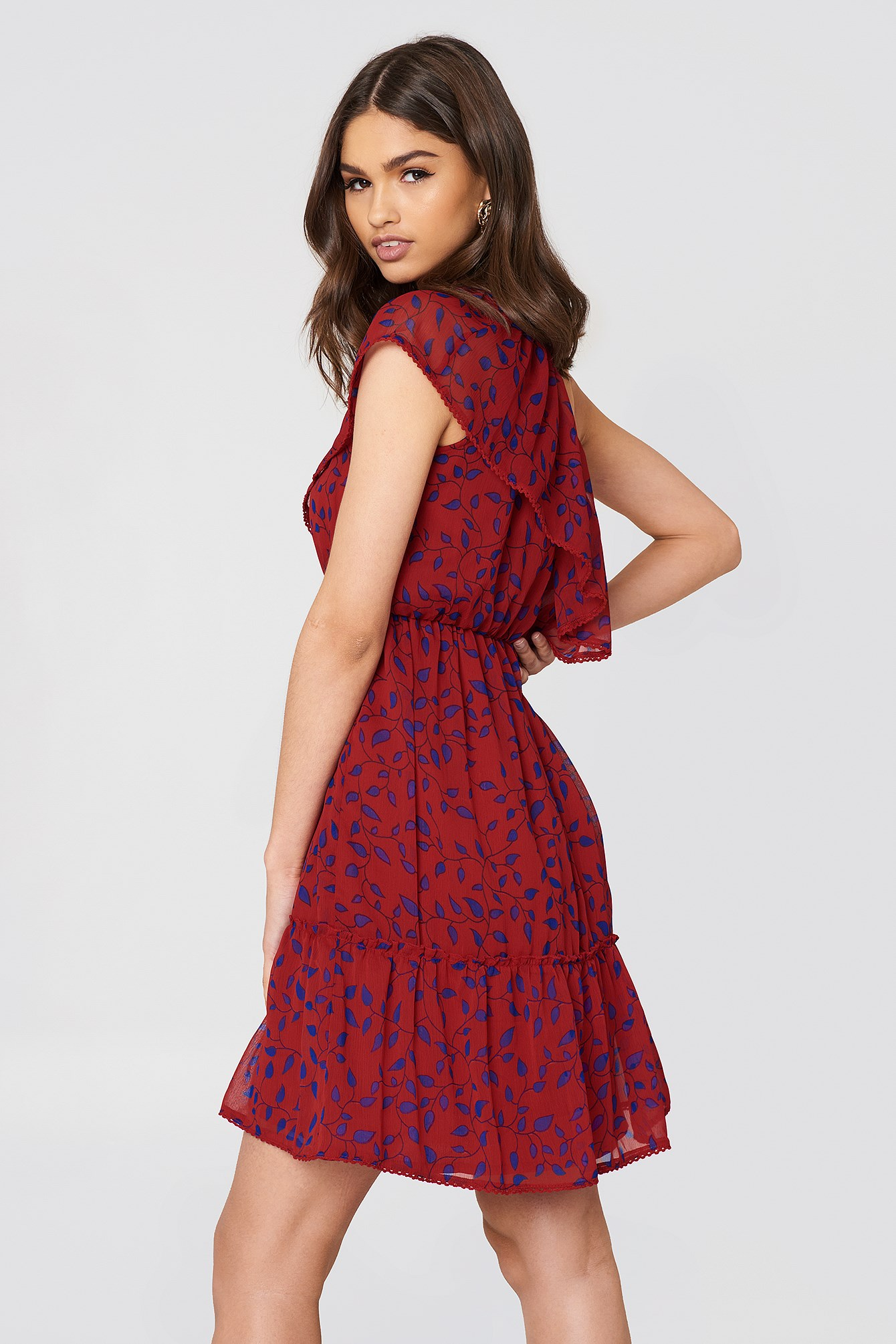 One Shoulder Flounce Dress NA-KD.COM