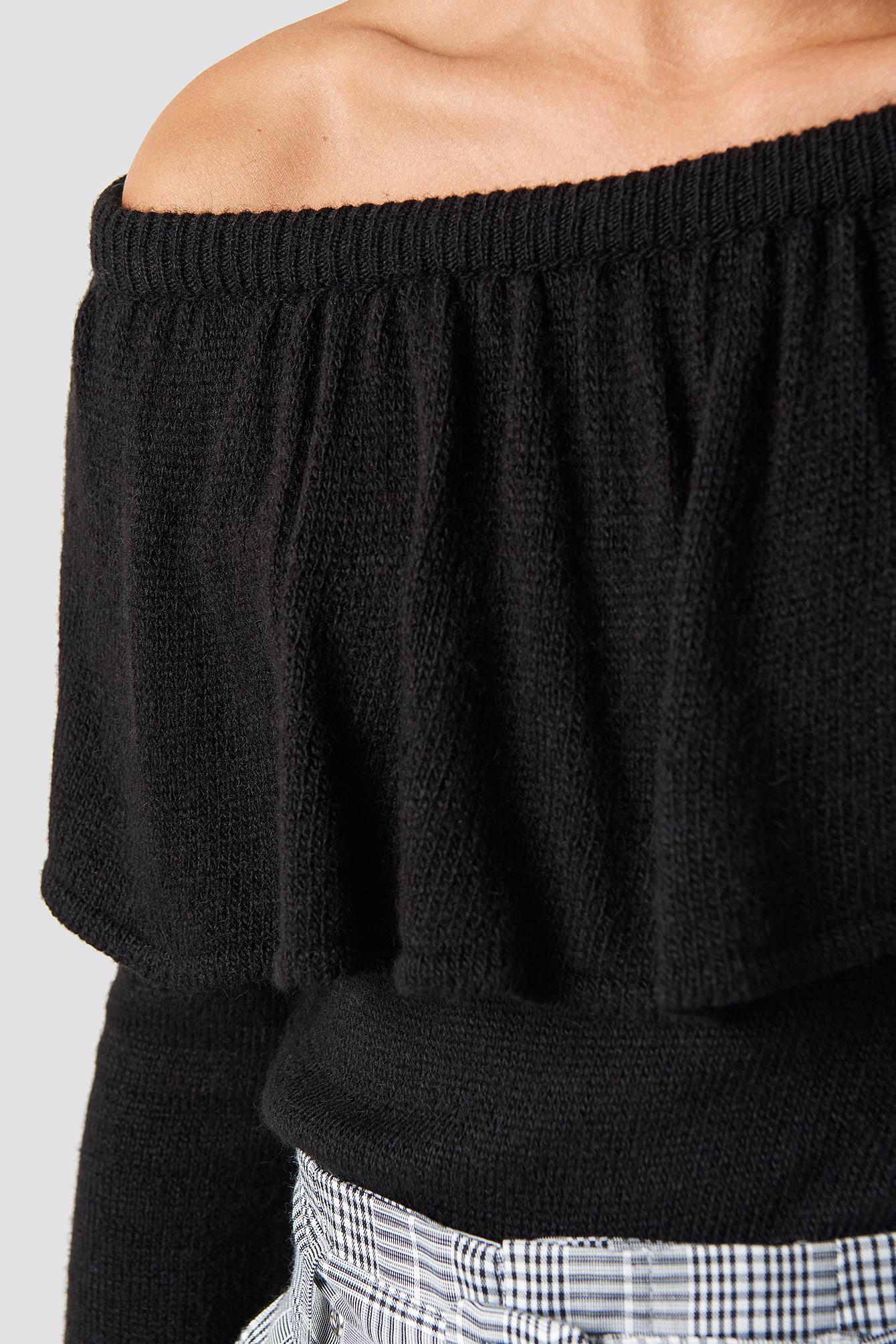 Sweter na jedno ramię NA-KD.COM