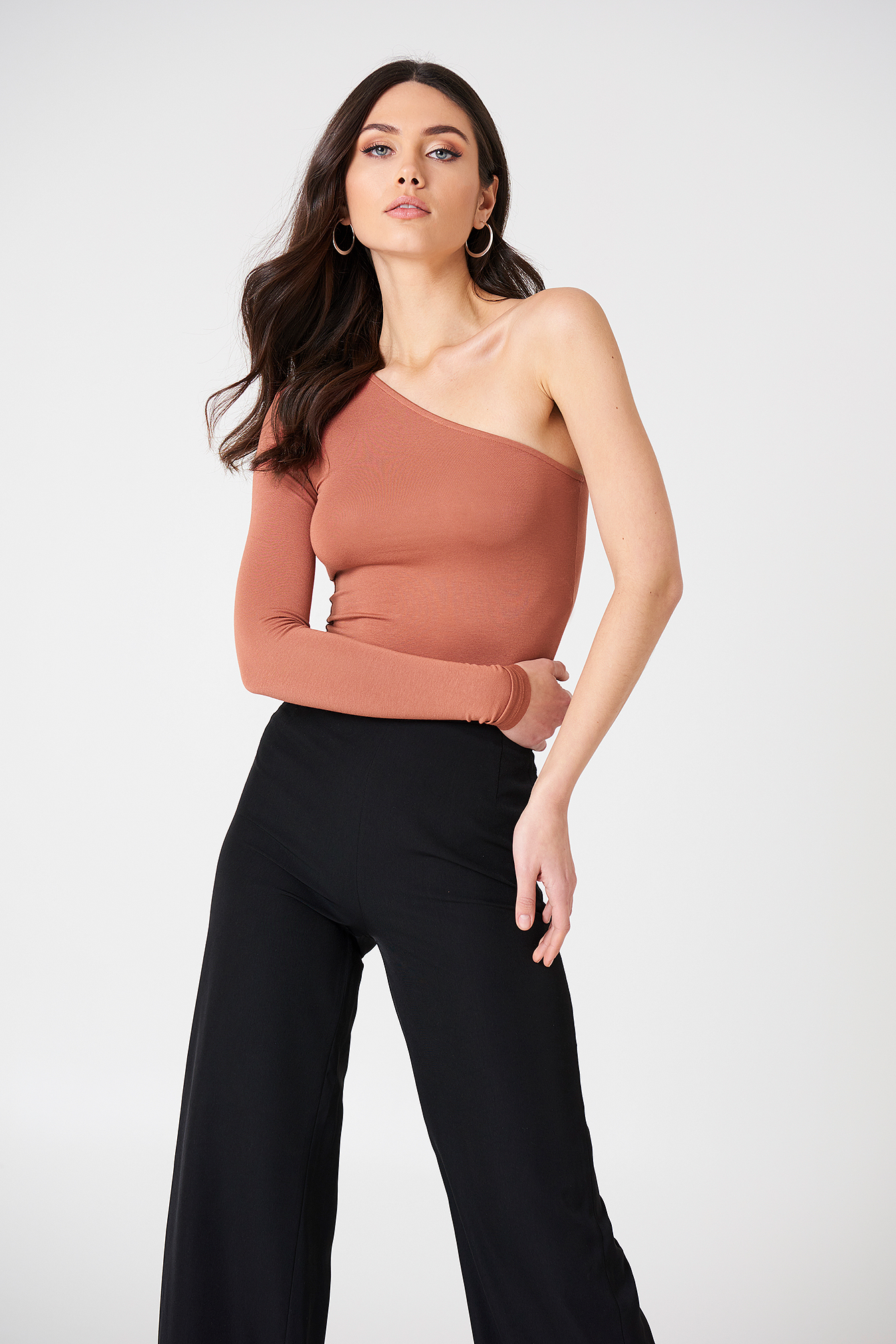 One Shoulder Jersey Top NA-KD.COM