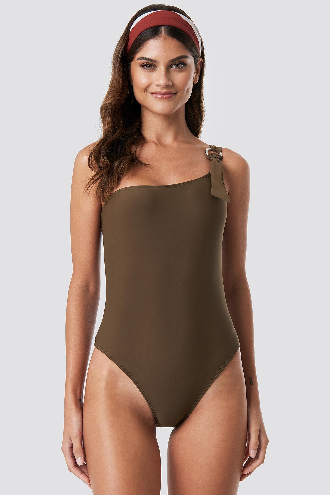 Kostium kąpielowy na jedno ramię NA-KD.COM