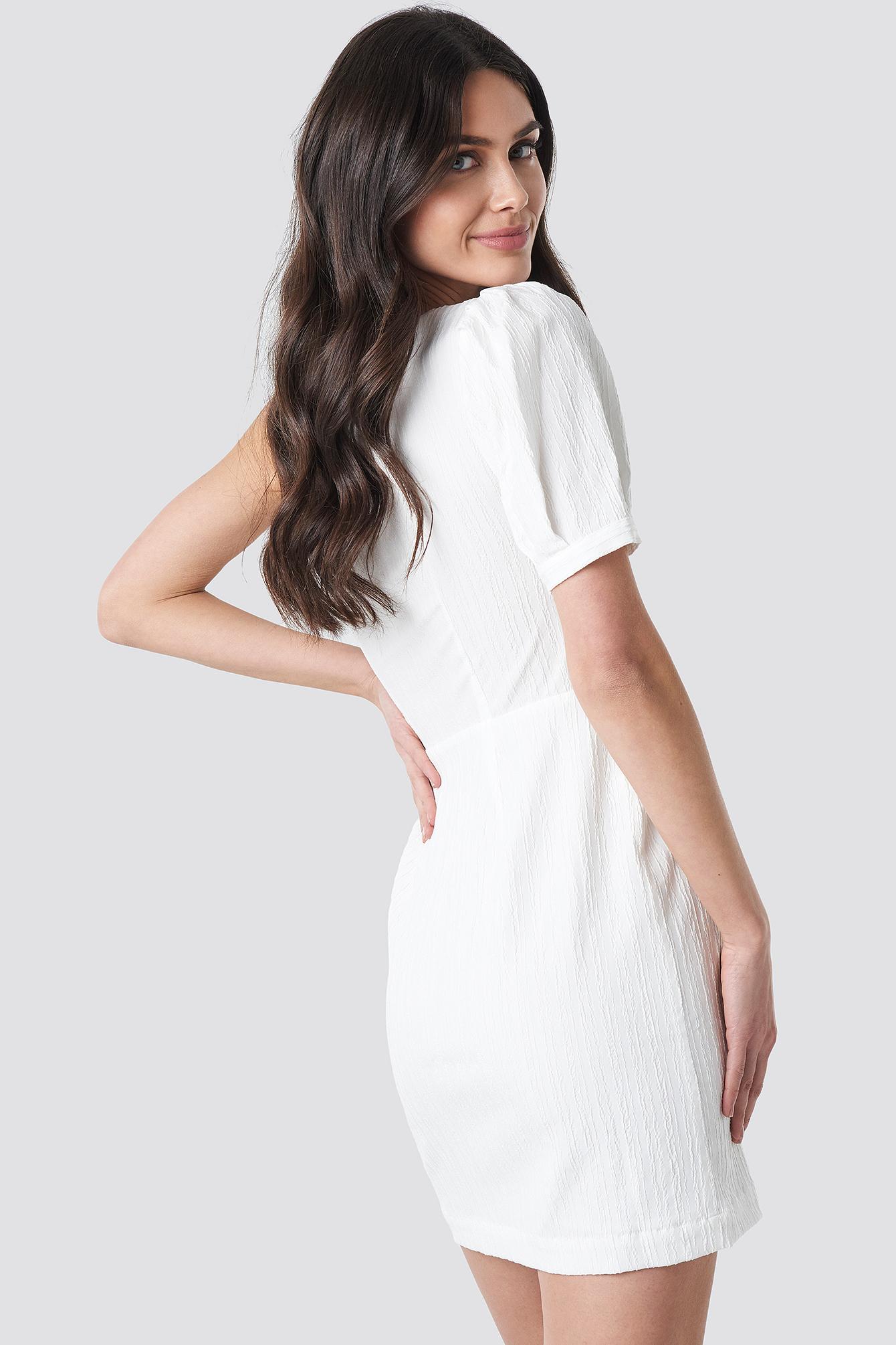 One Shoulder Puff Sleeve Mini Dress NA-KD.COM
