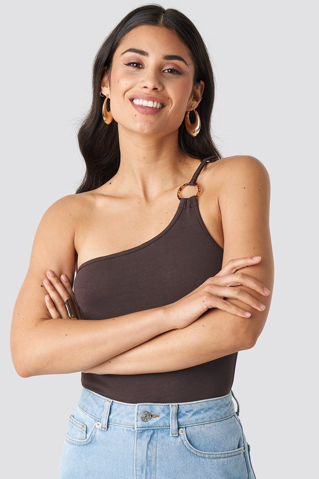 One Shoulder Ring Body Coffee
