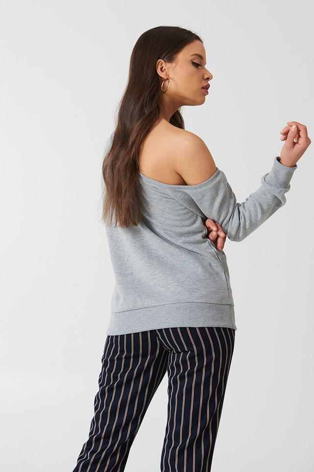 One Shoulder Sweater Grey