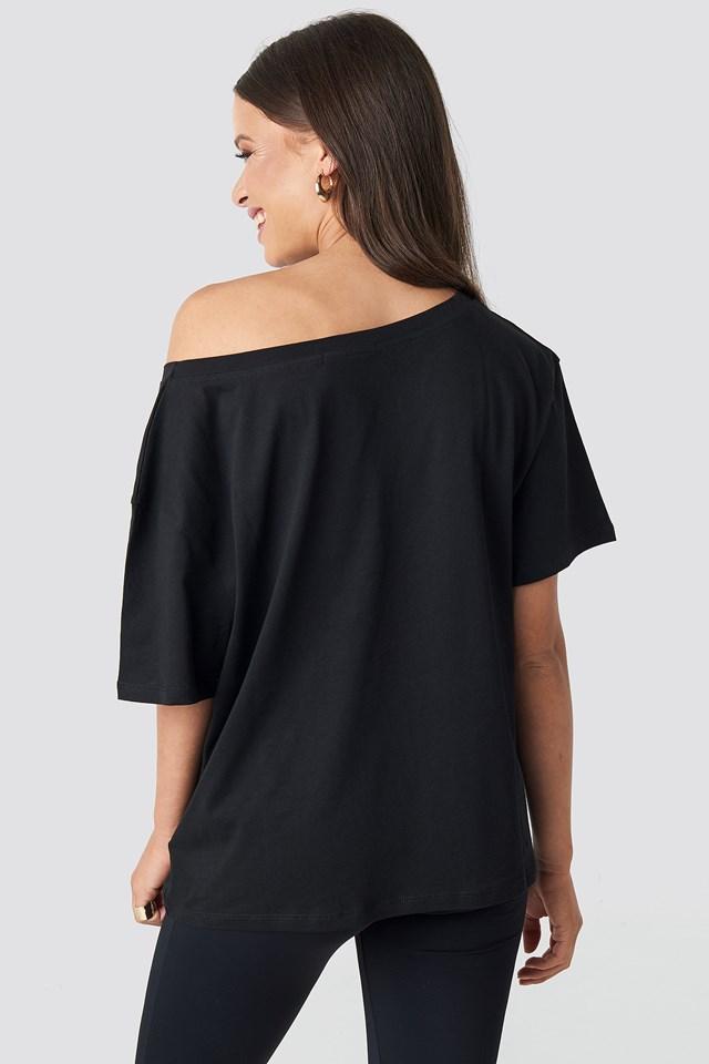 One Shoulder T-shirt Black
