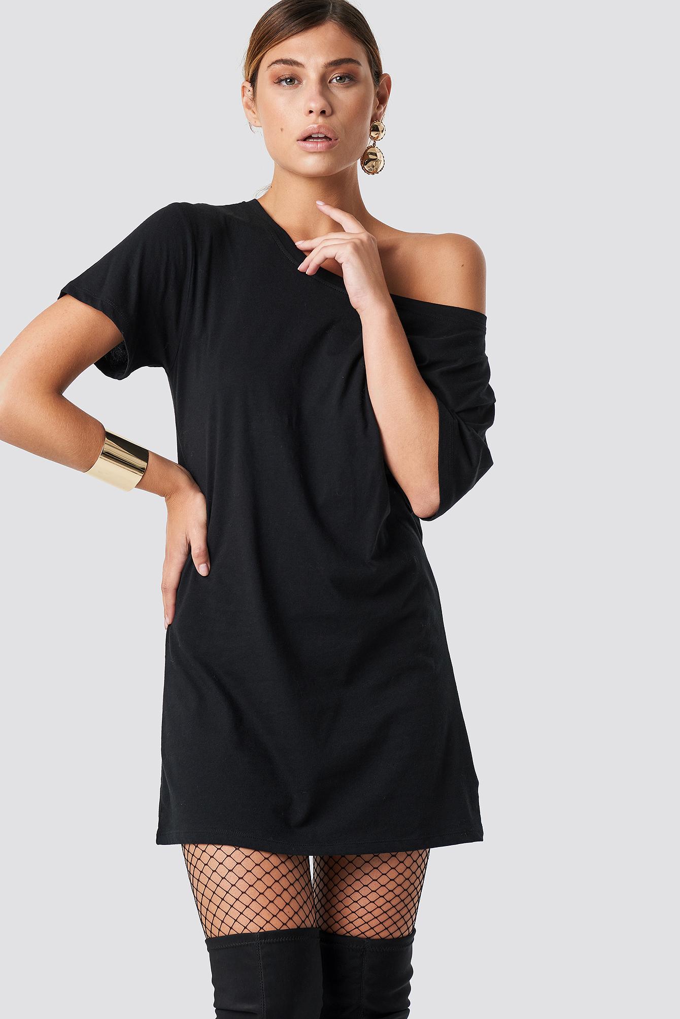 One Shoulder T-shirt Dress NA-KD.COM