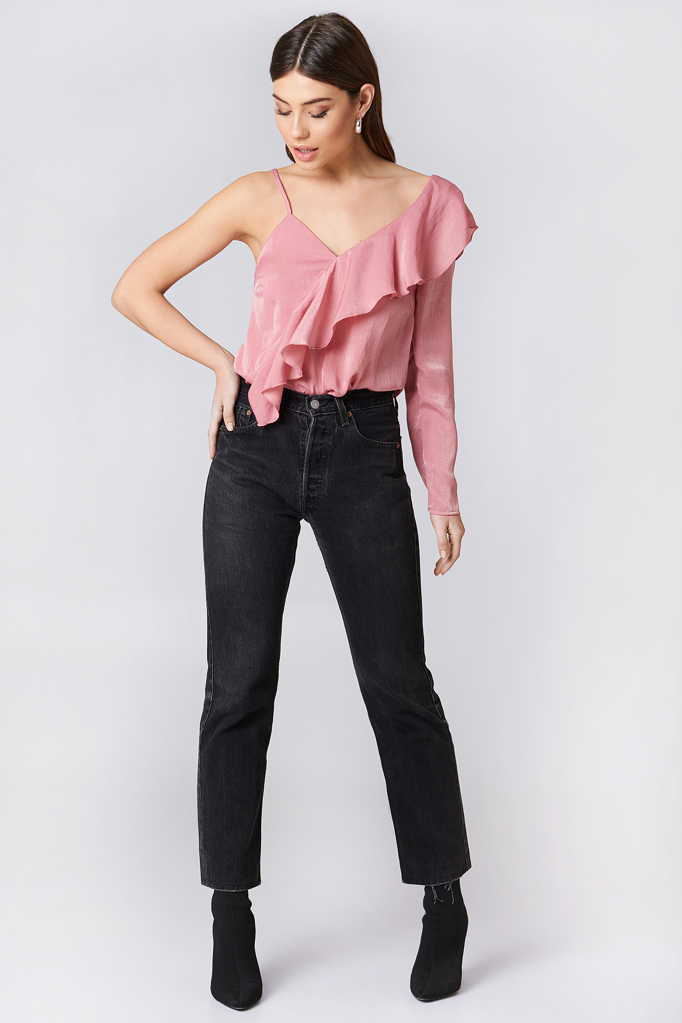 Top One Sleeve Frill NA-KD.COM