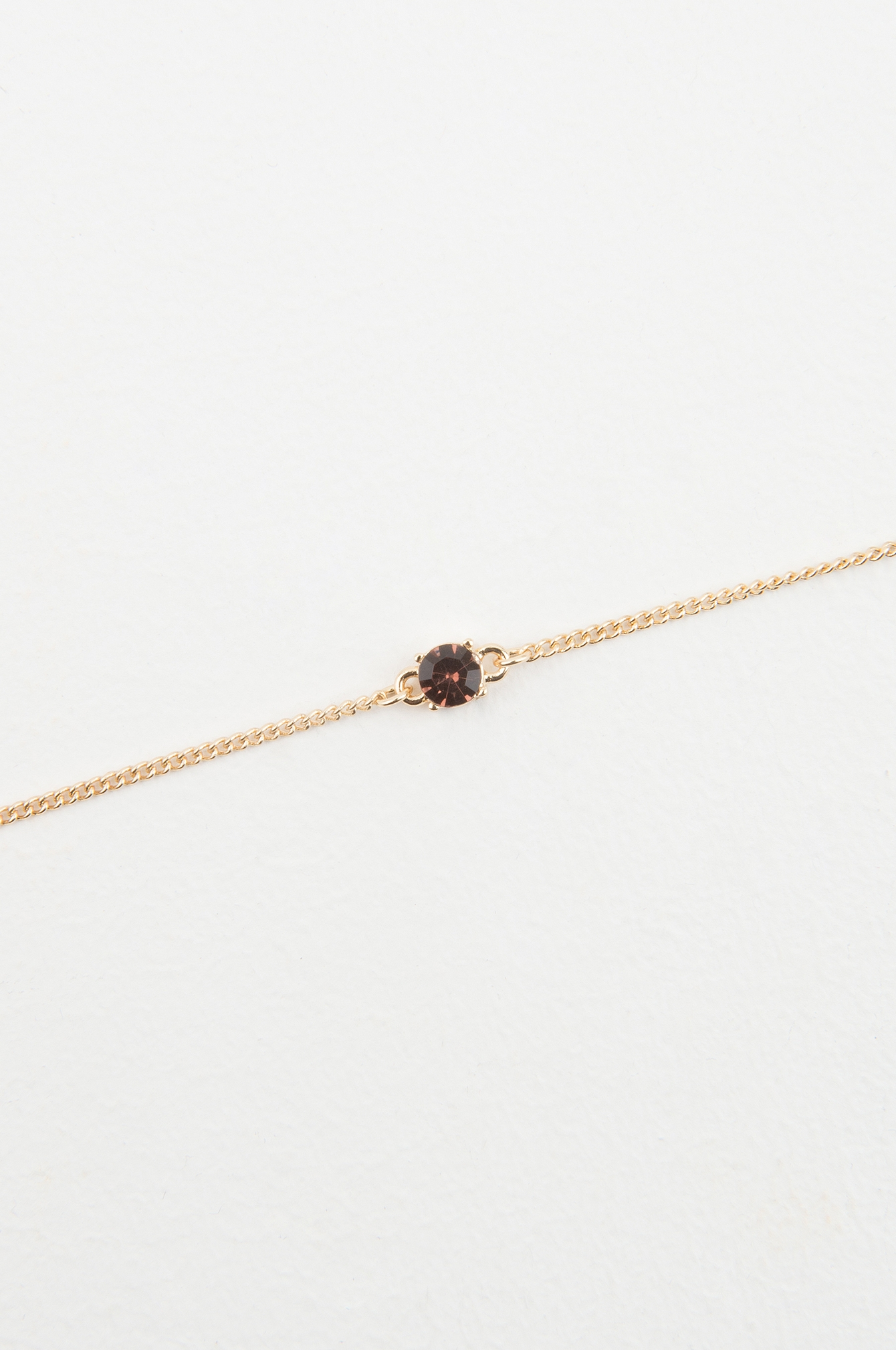 Brown One Stone Necklace