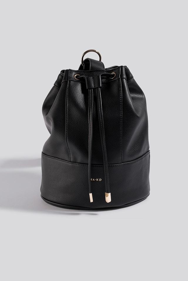 One Strap Bucket Bag Black