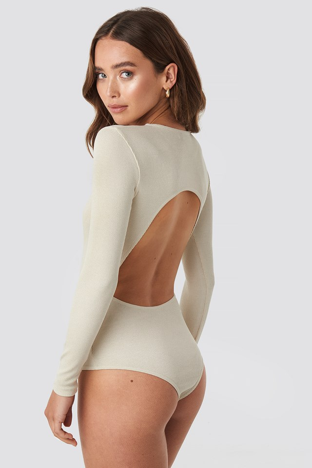 Open Back Bodysuit Off White