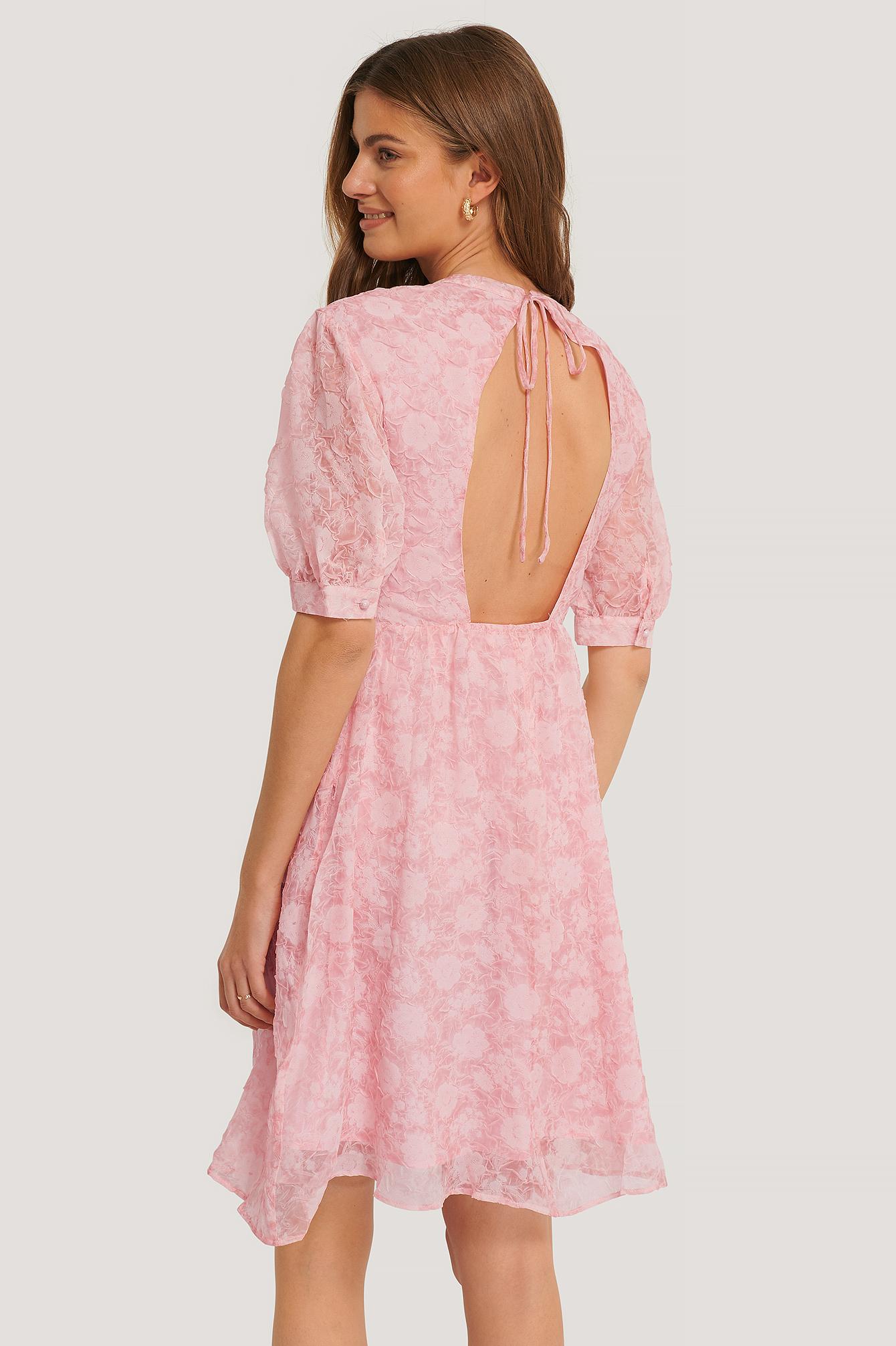 na-kd boho -  Kleid Mit Offener Rückenpartie - Pink