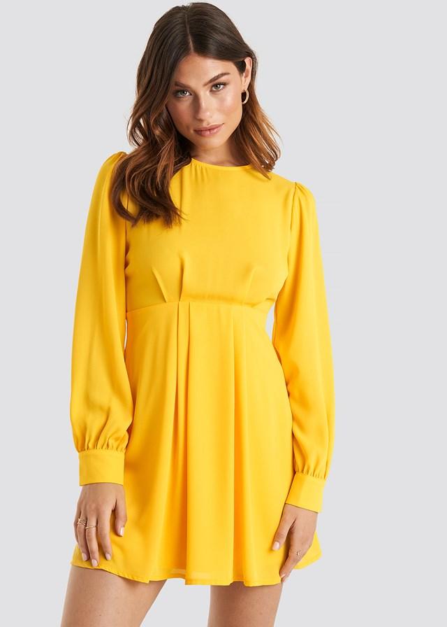 Open Back Flowy Mini Dress Citrus