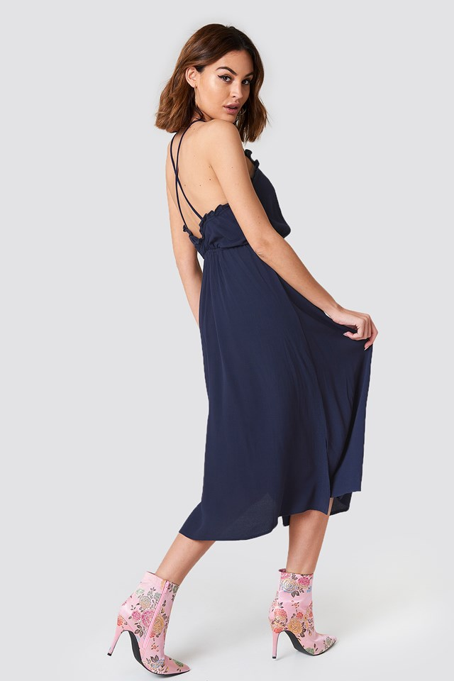 Open Back Midi Dress NA-KD.COM