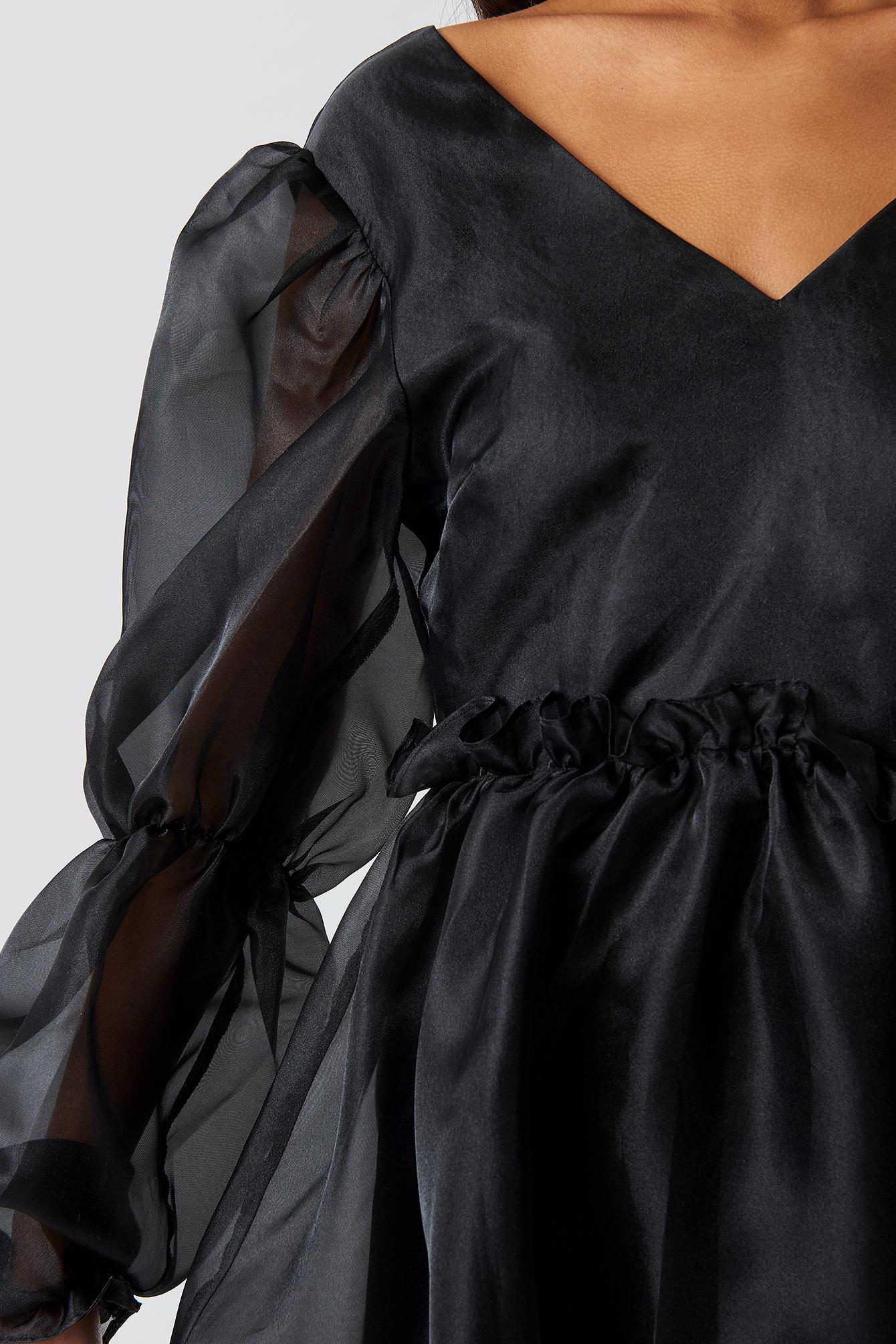 Open Back Organza Dress NA-KD.COM