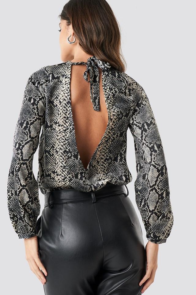 Open Back Printed Bodysuit NA-KD.COM