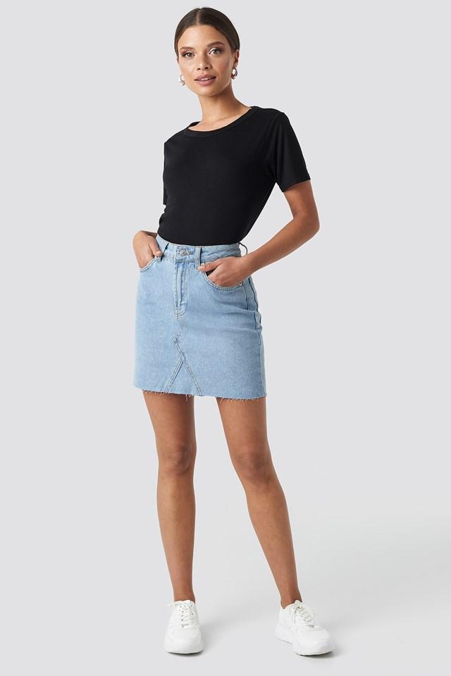 Open Back T-shirt Black