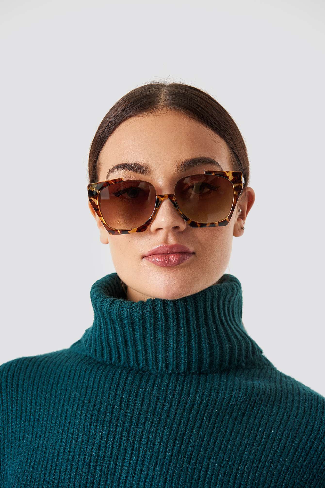 na-kd accessories -  Open Frame Sunglasses - Brown