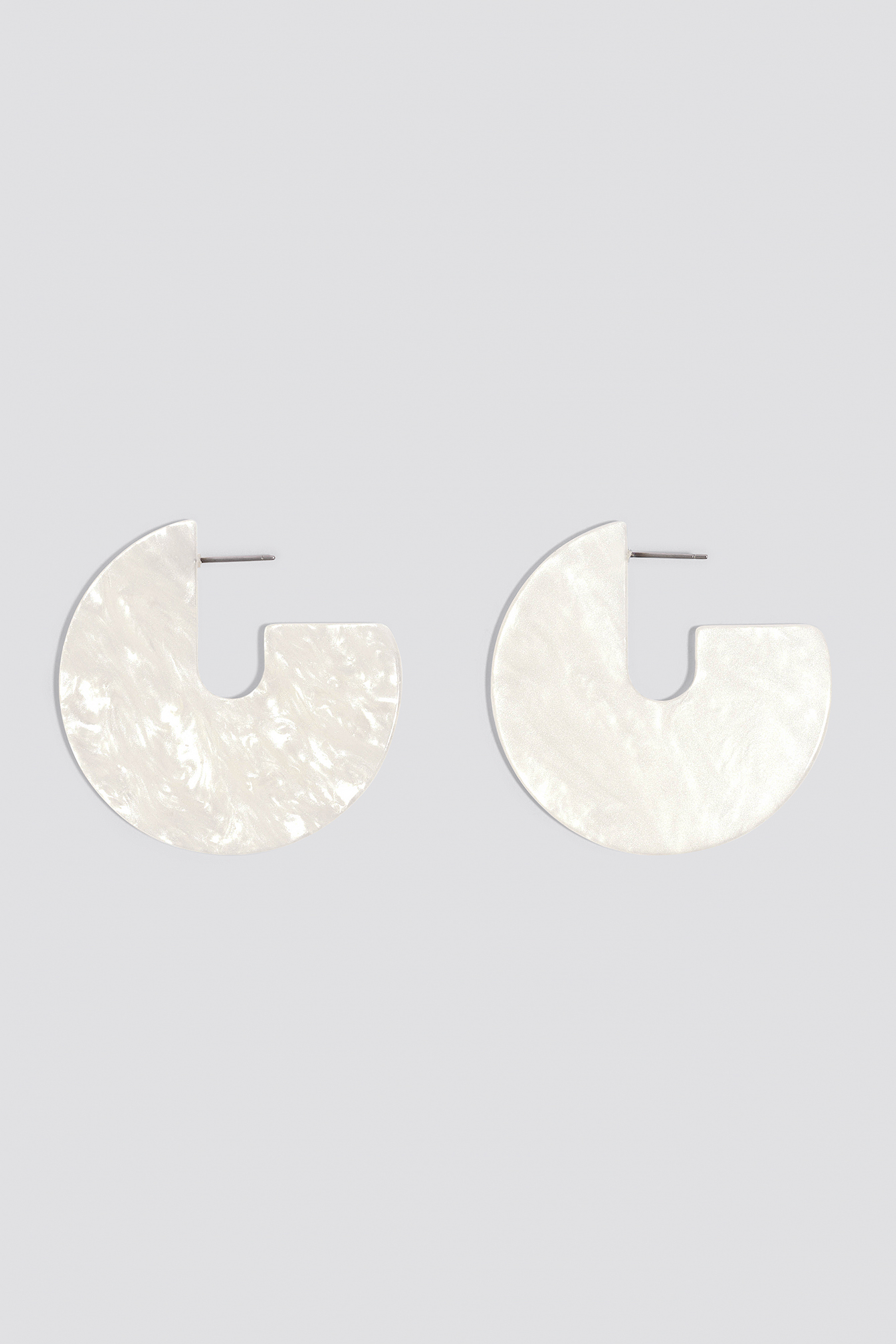 Open Hoop Resin Earrings NA-KD.COM