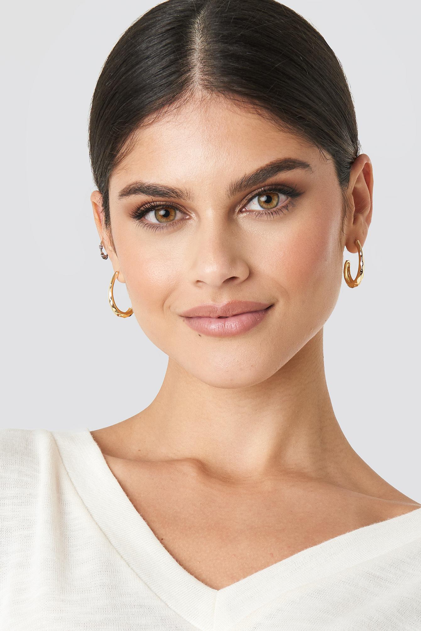 Open Oval Hoop Earrings NA-KD.COM