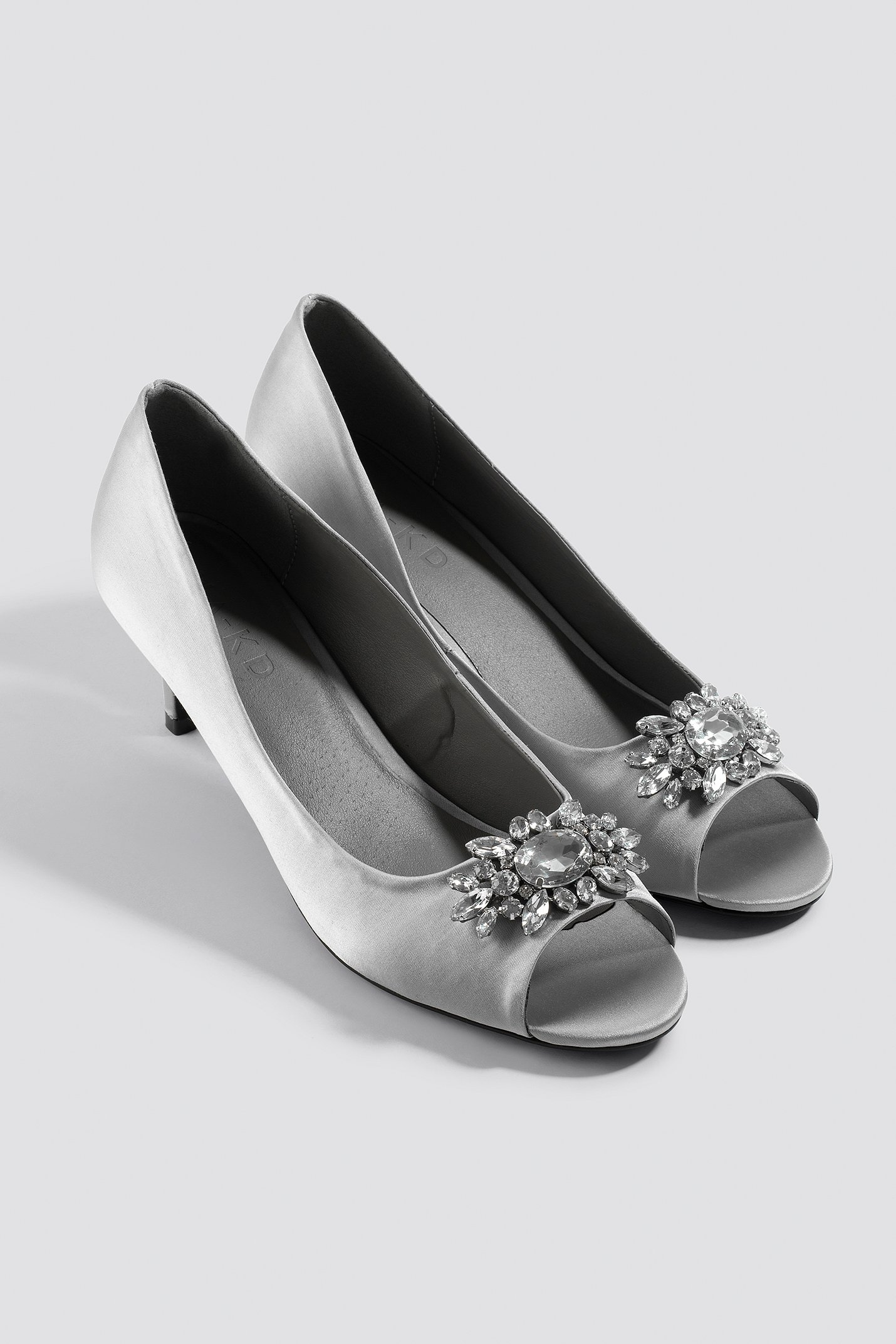 Open Toe Embellished Pumps NA-KD.COM