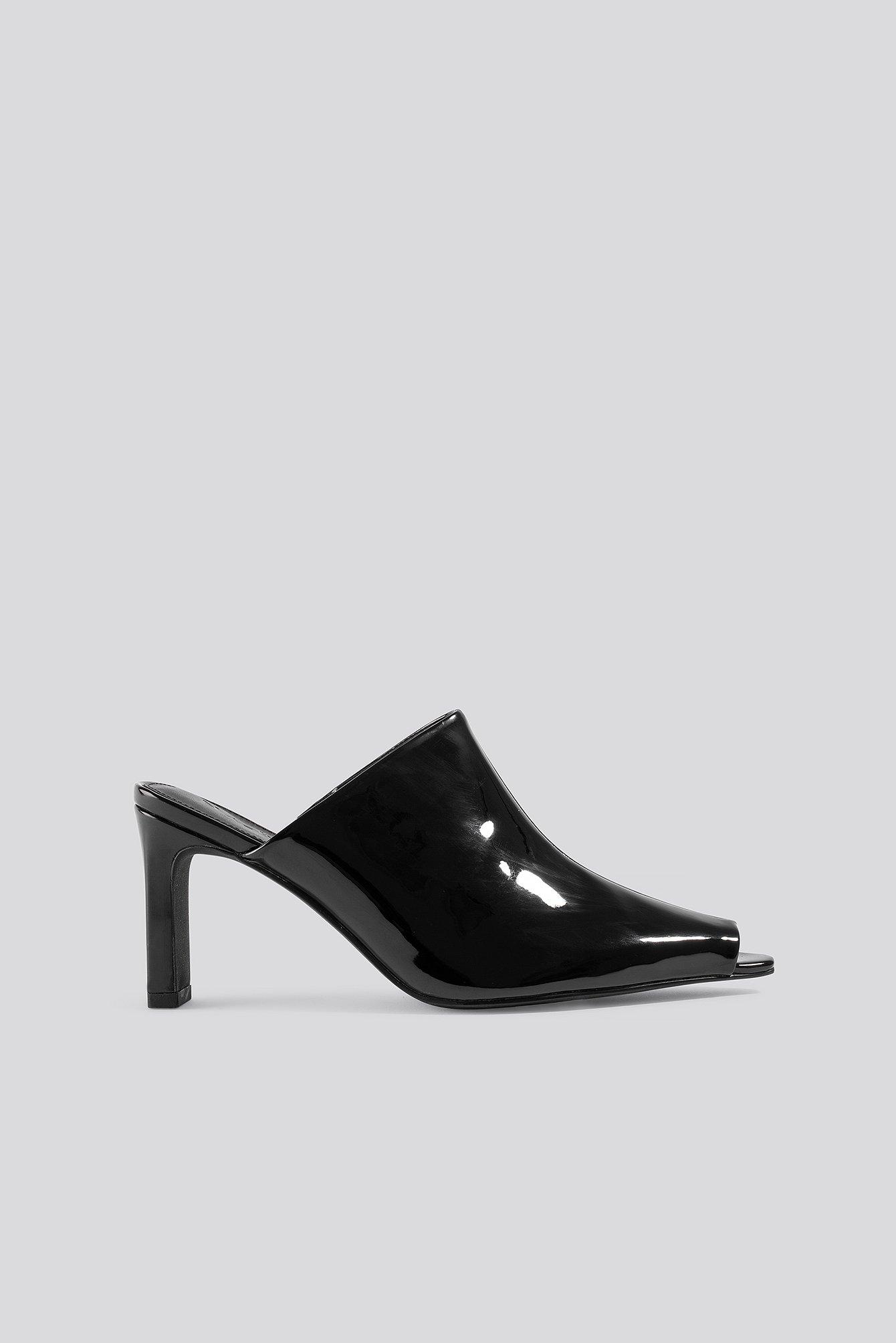 na-kd shoes -  Open Toe Mules - Black