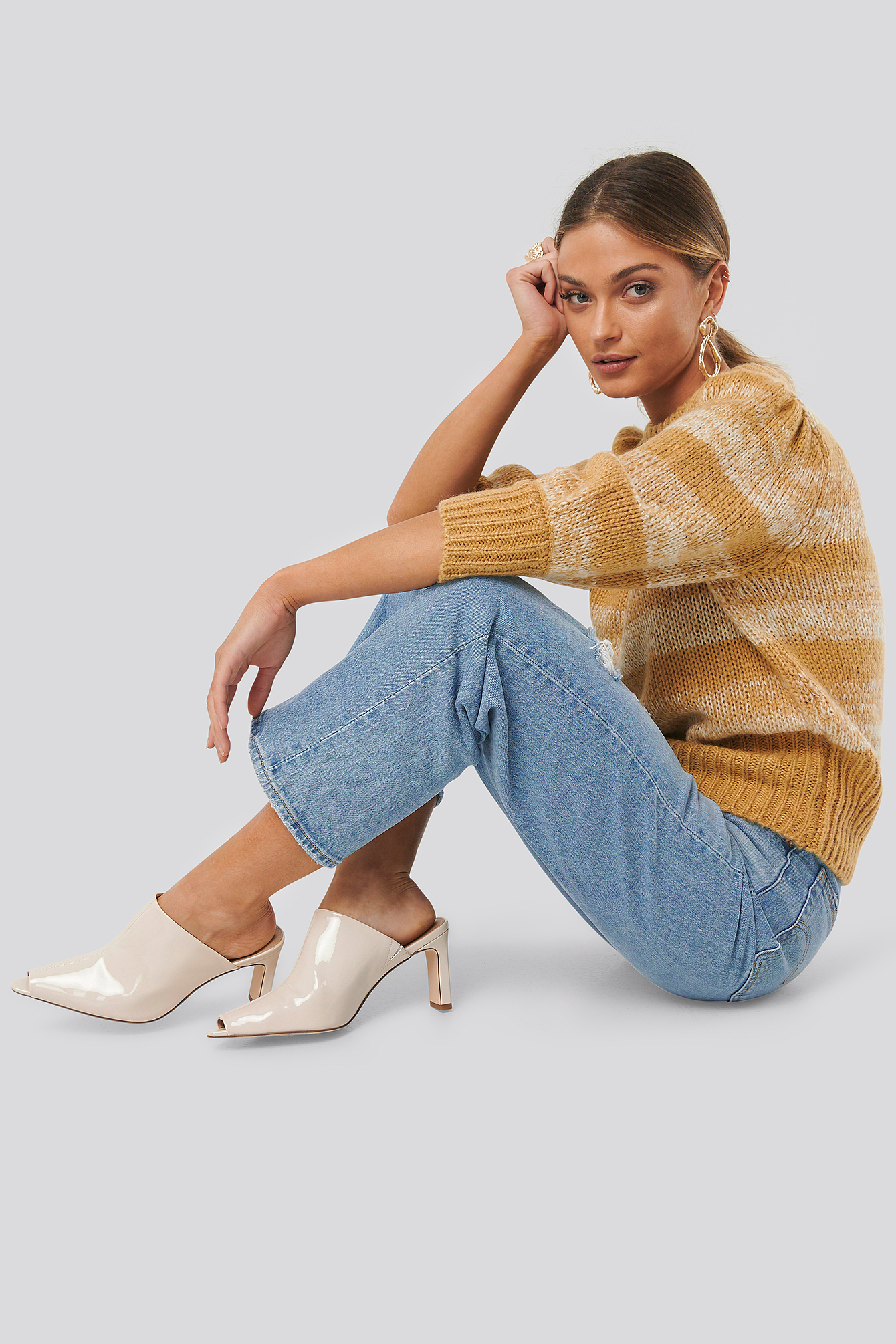 na-kd shoes -  Open Toe Mules - Beige