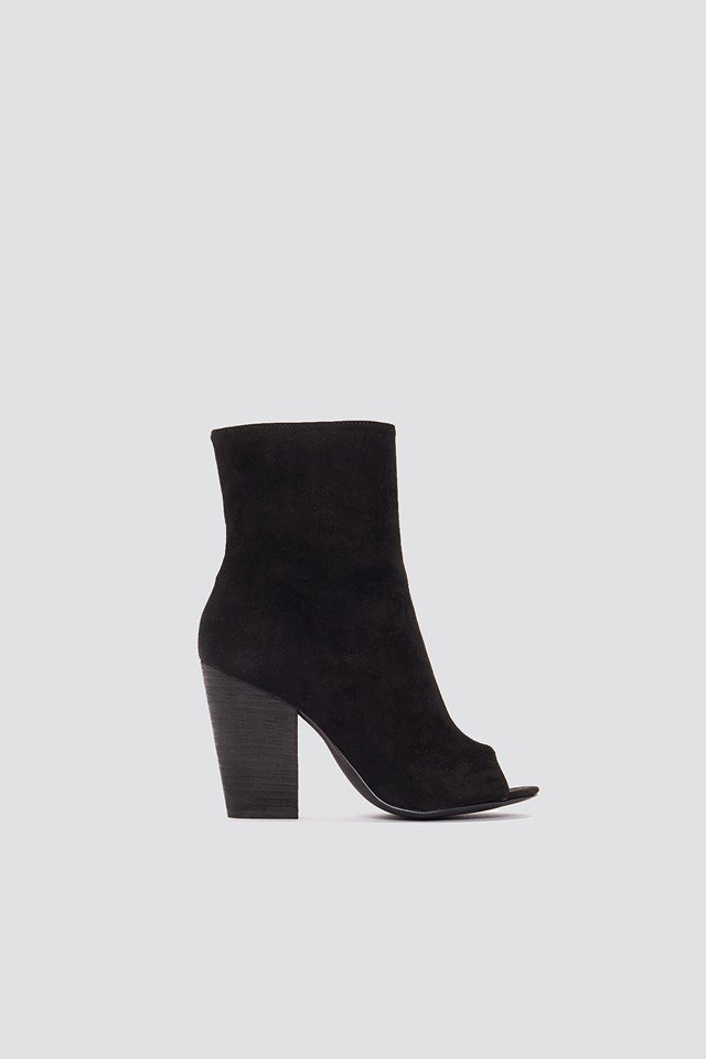 Open Toe Suede Boots NA-KD.COM