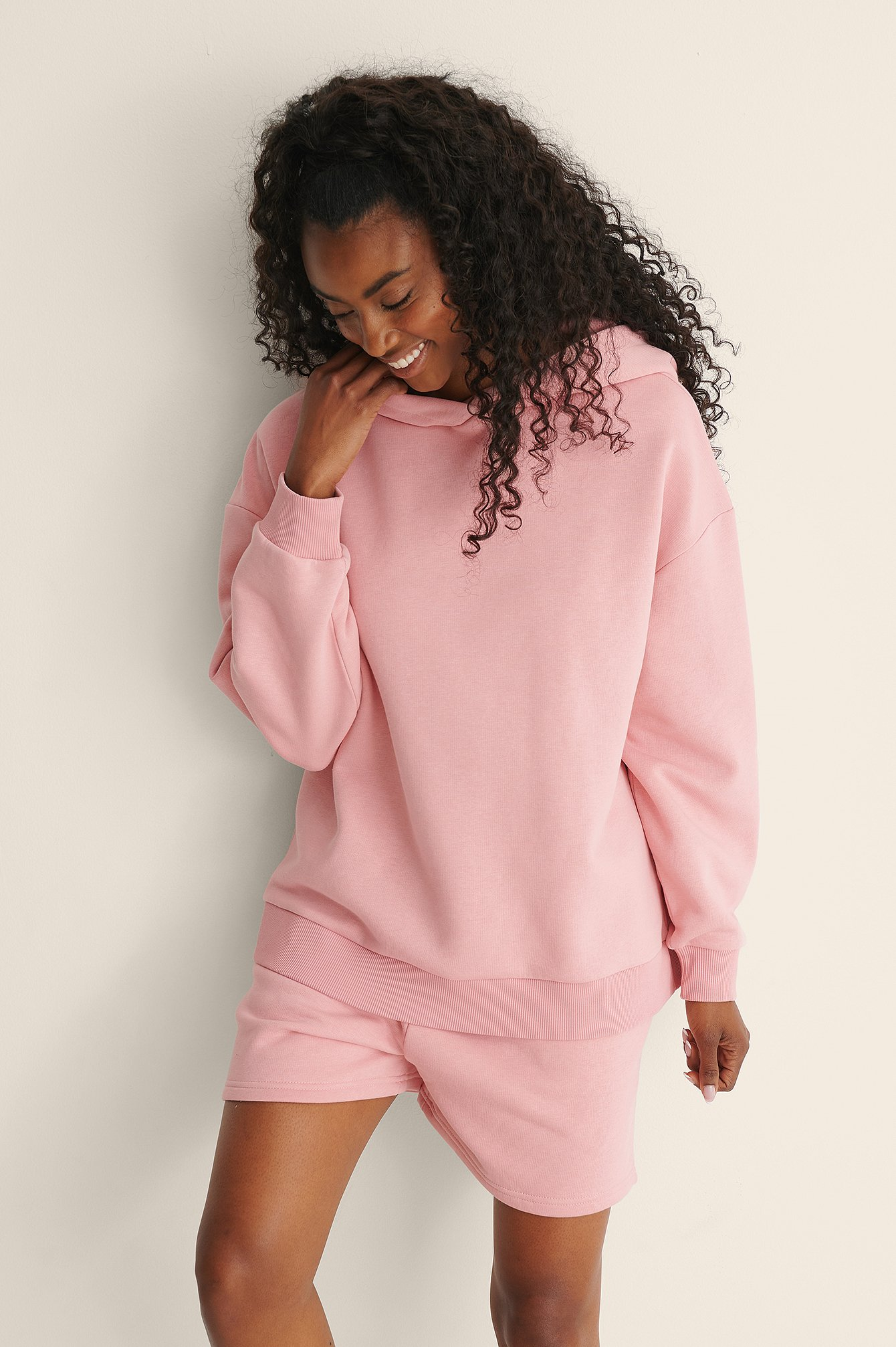 na-kd trend -  Organic Kapuzenpullover In Übergröße - Pink