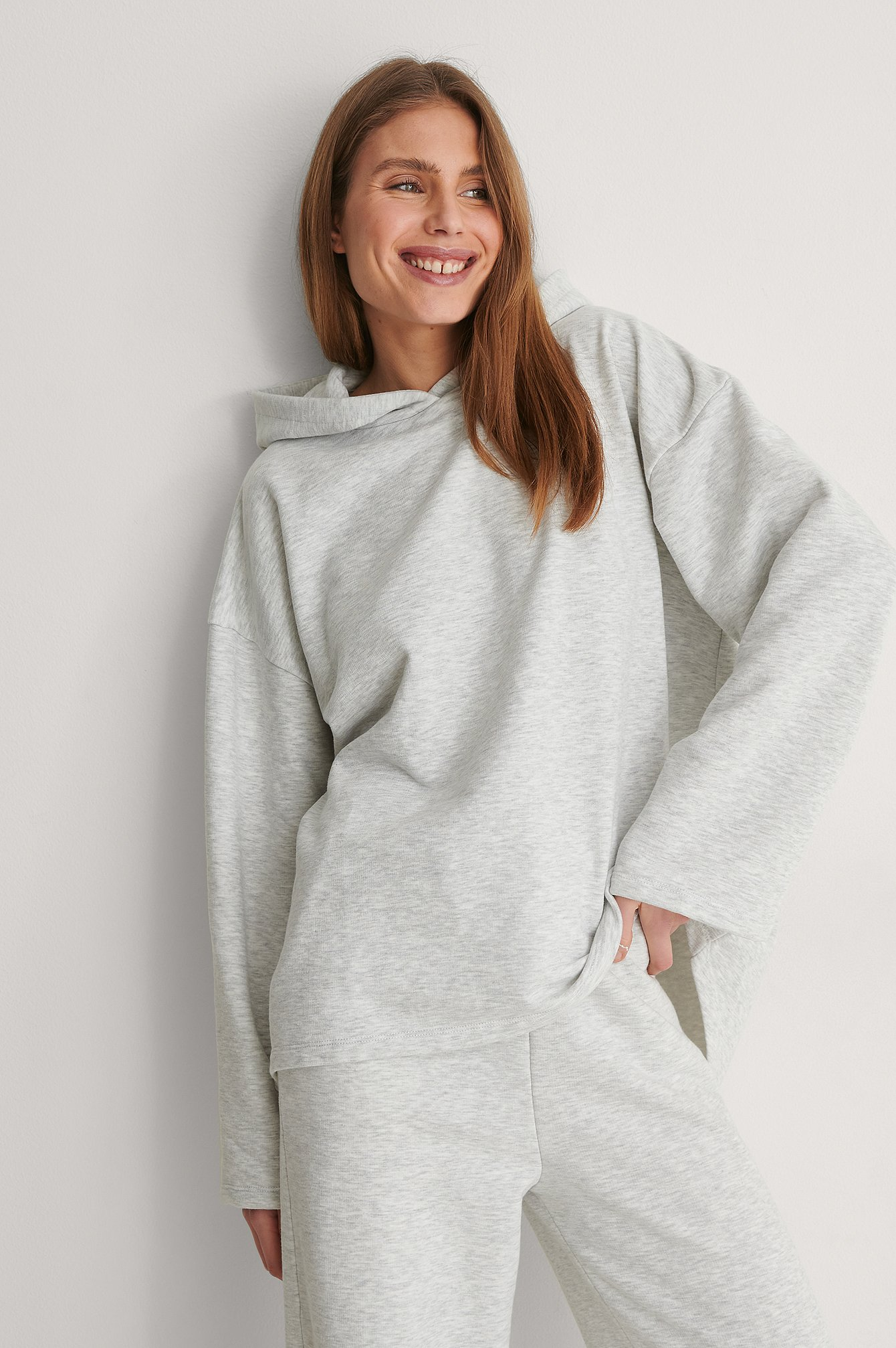 NA-KD Trend Økologisk Økologisk Oversize HættetrøjeØkologisk Økologisk Oversize Hættetrøje - Grey