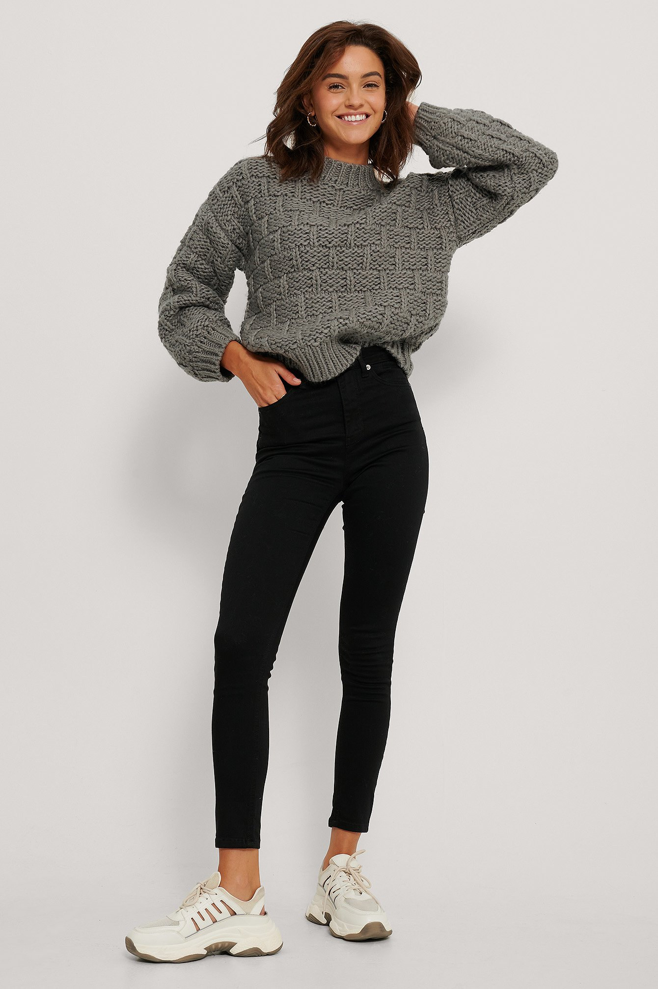 Black Skinny High Waist Jeans