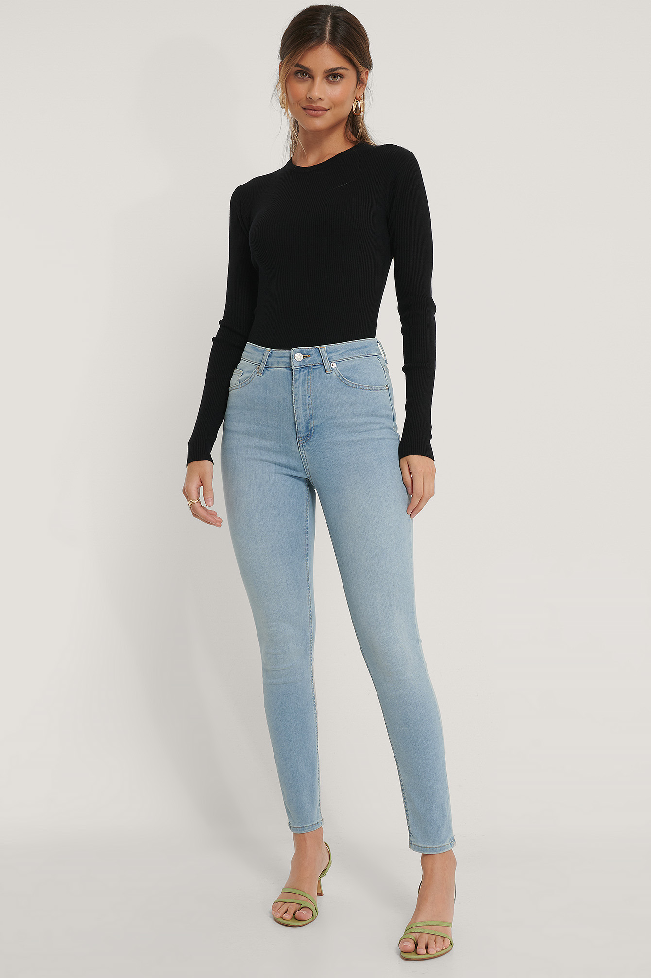 Light Blue Skinny High Waist Jeans