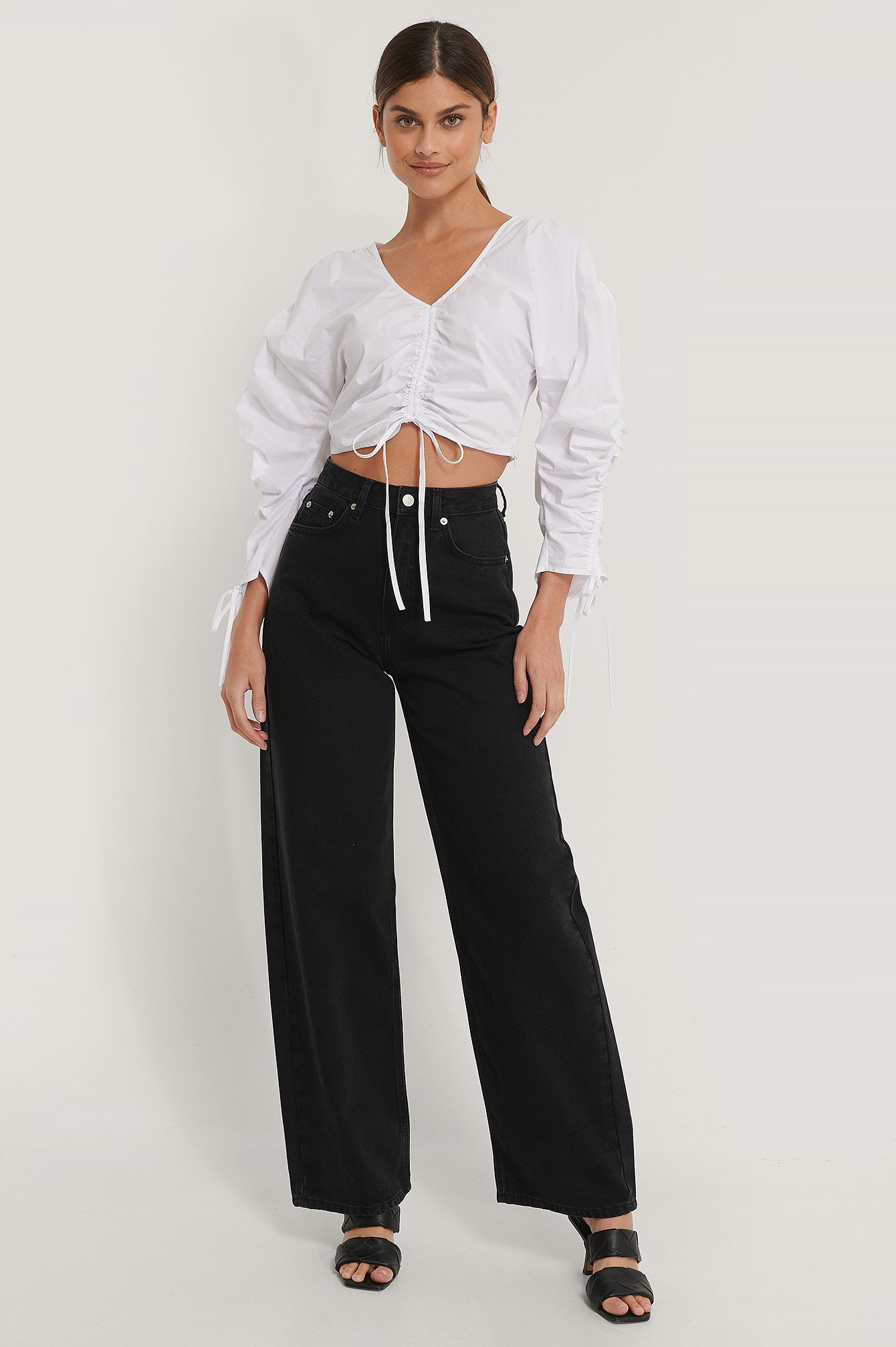 Black Extra Wide Leg Denim