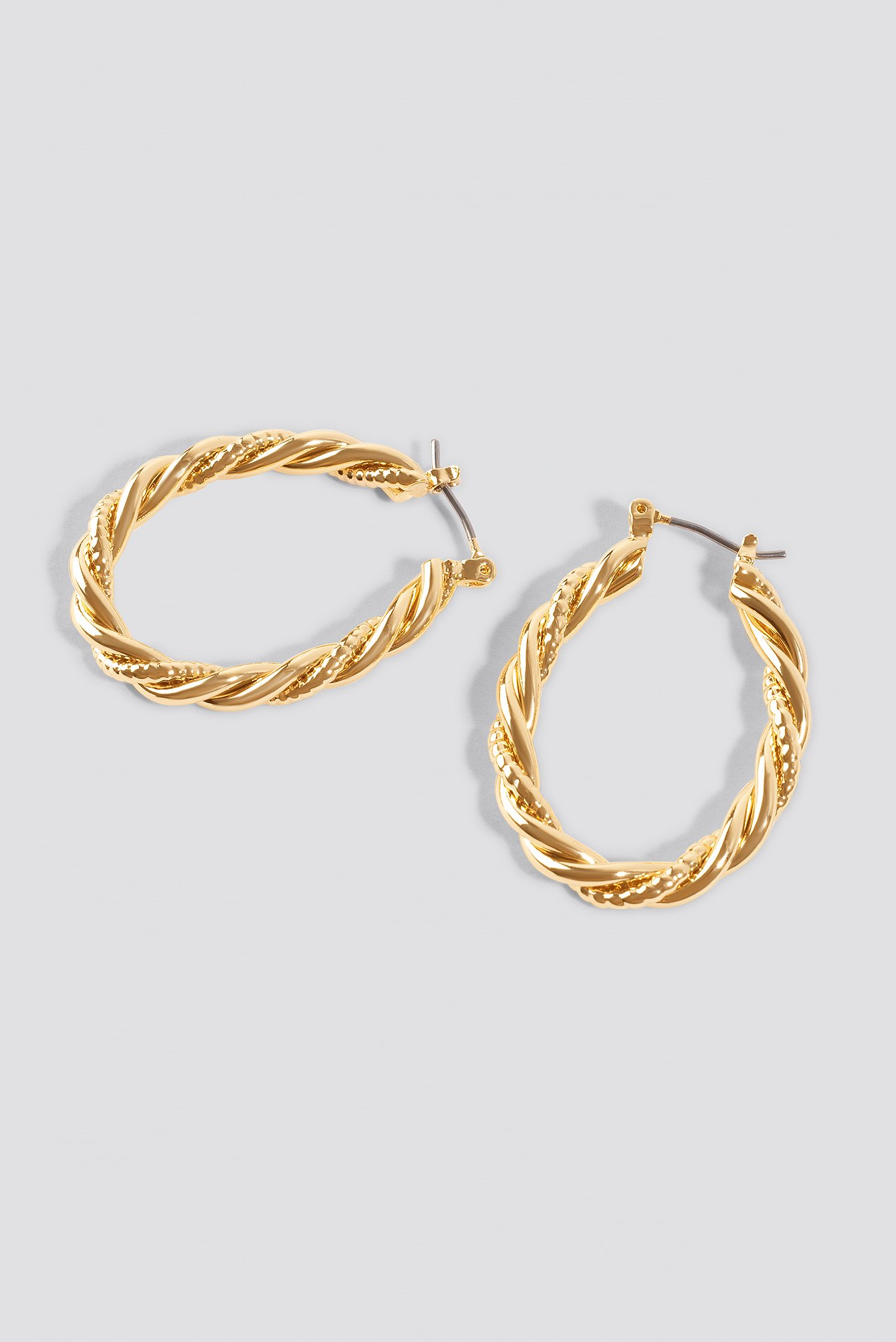 Oval Braided Earrings NA-KD.COM