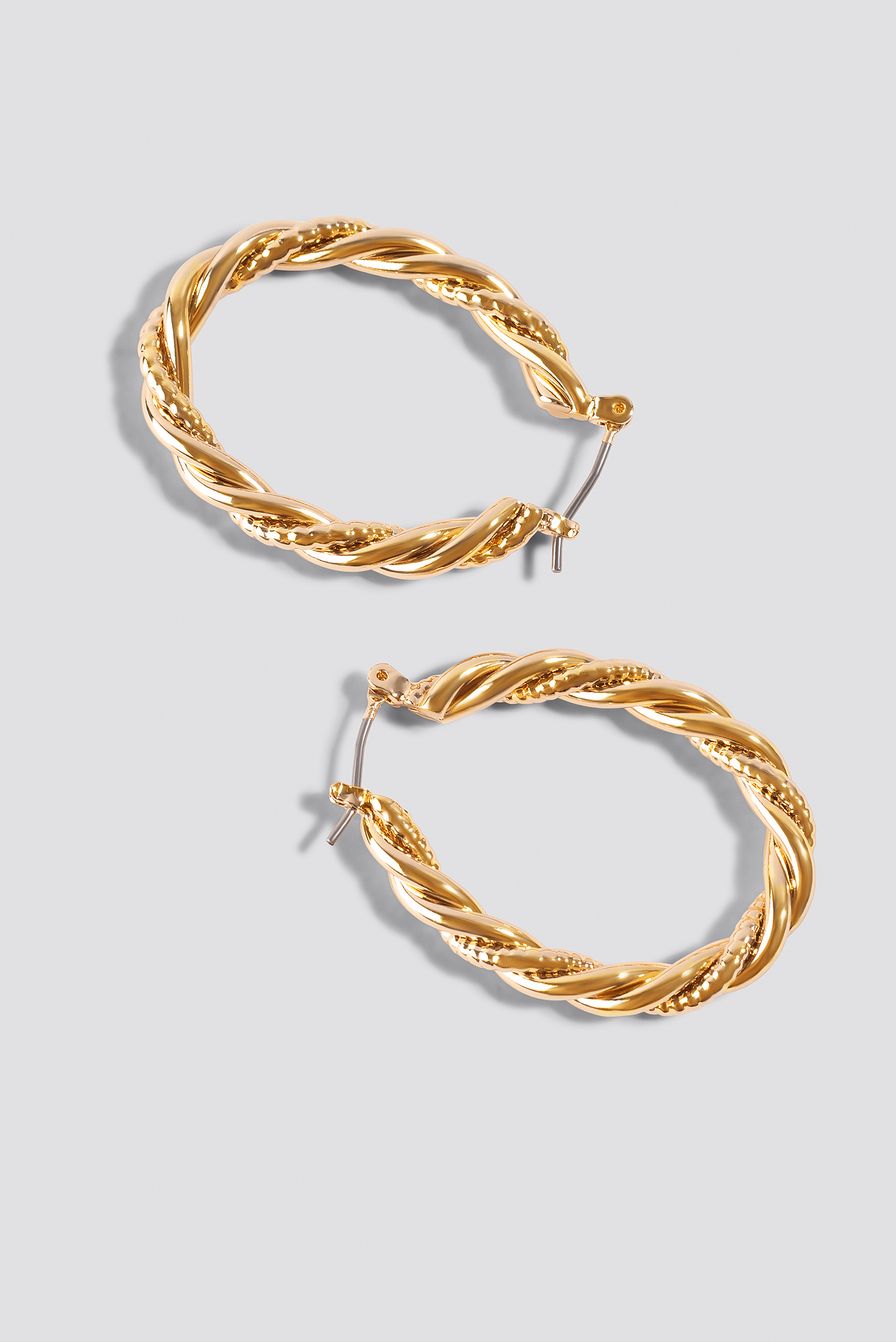 Gold Oval Braided Earrings