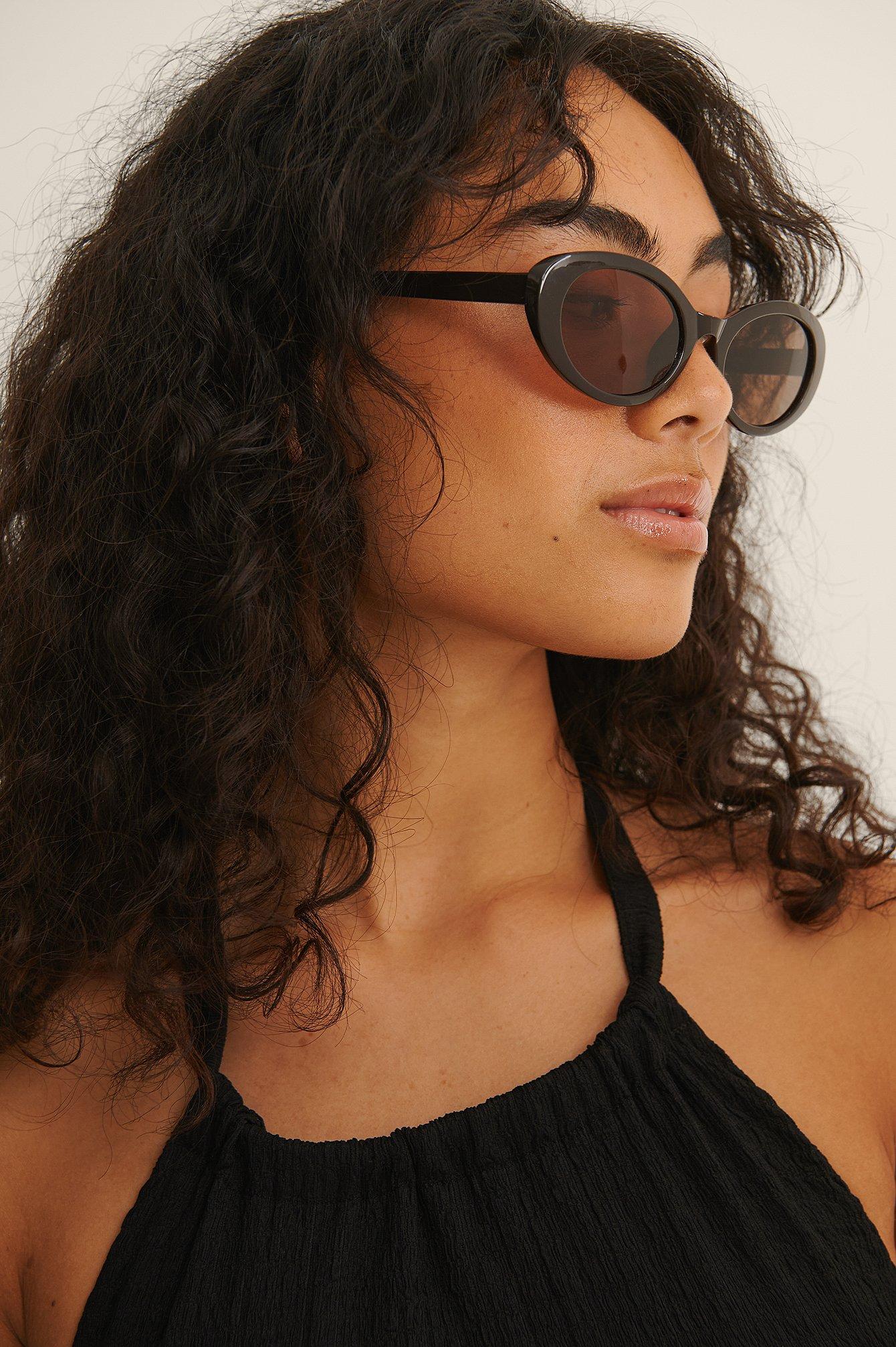 na-kd accessories -  Ovale Cateye-Sonnenbrille - Brown