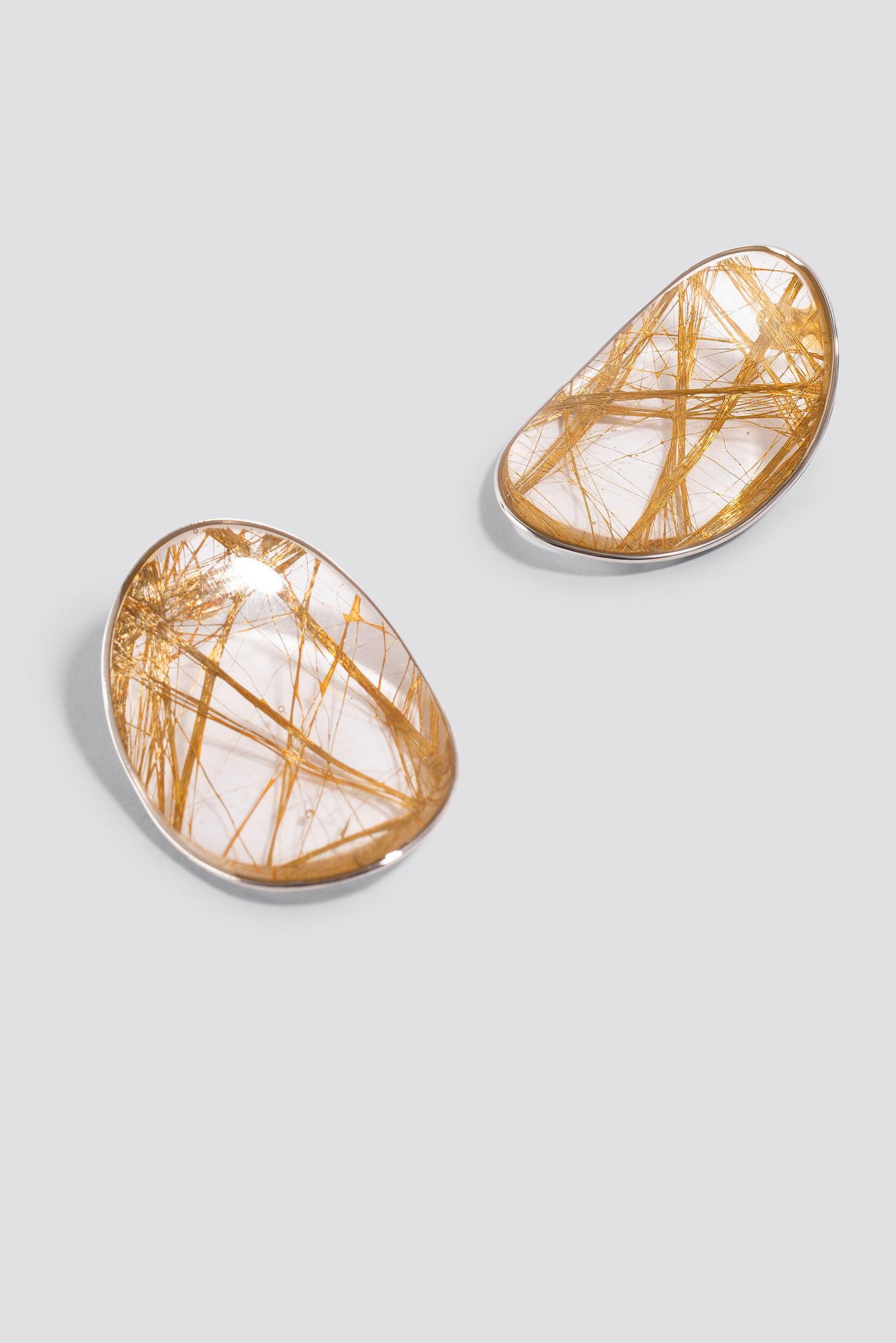Oval Gold Threat Earrings NA-KD.COM