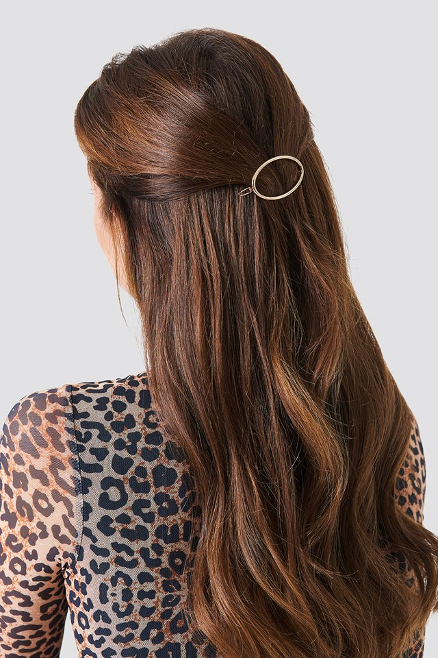 Oval Hairclip Gold