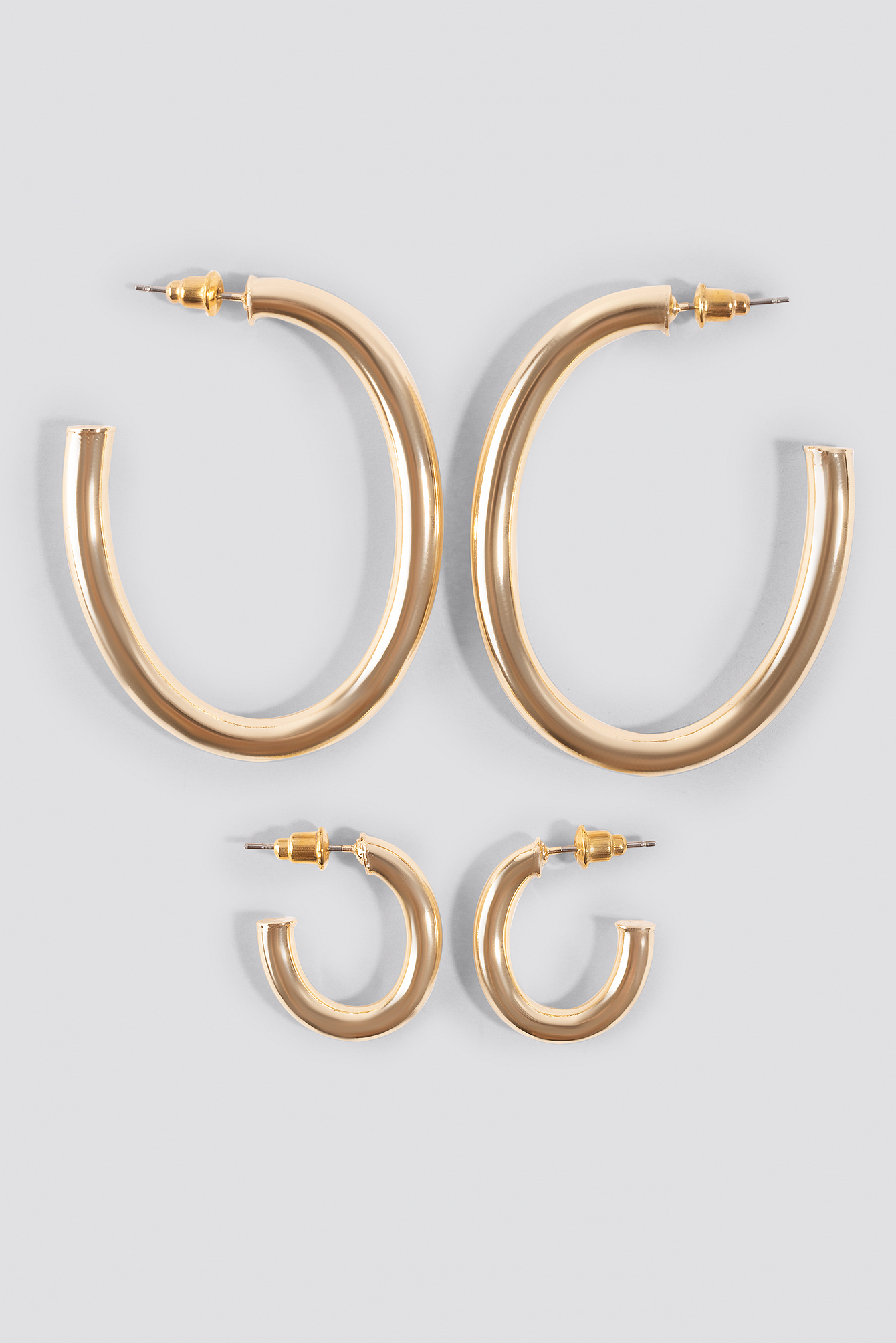 Oval Hoop Earrings (Double Pack) NA-KD.COM