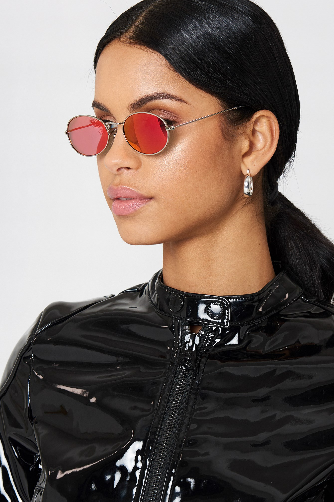 Oval Metal Sunglasses NA-KD.COM