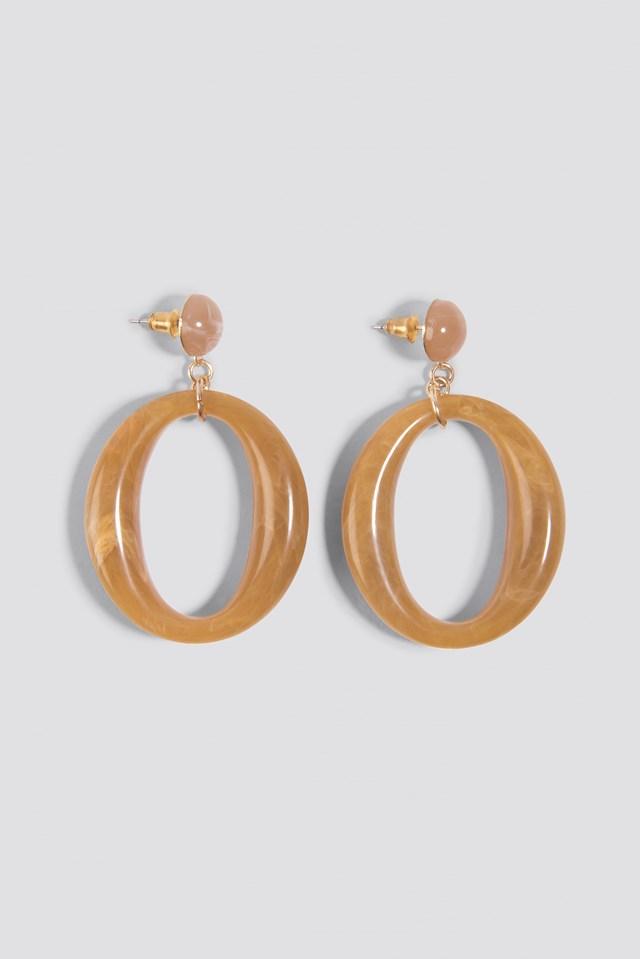 Oval Stone Earrings NA-KD.COM