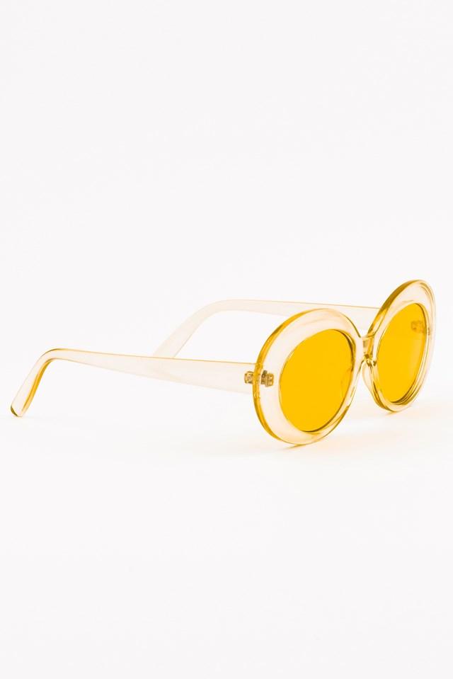 Oval Sunglasses Yellow