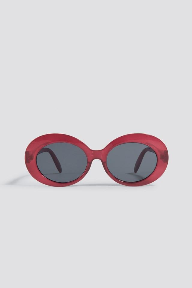 Oval Sunglasses Dark Red
