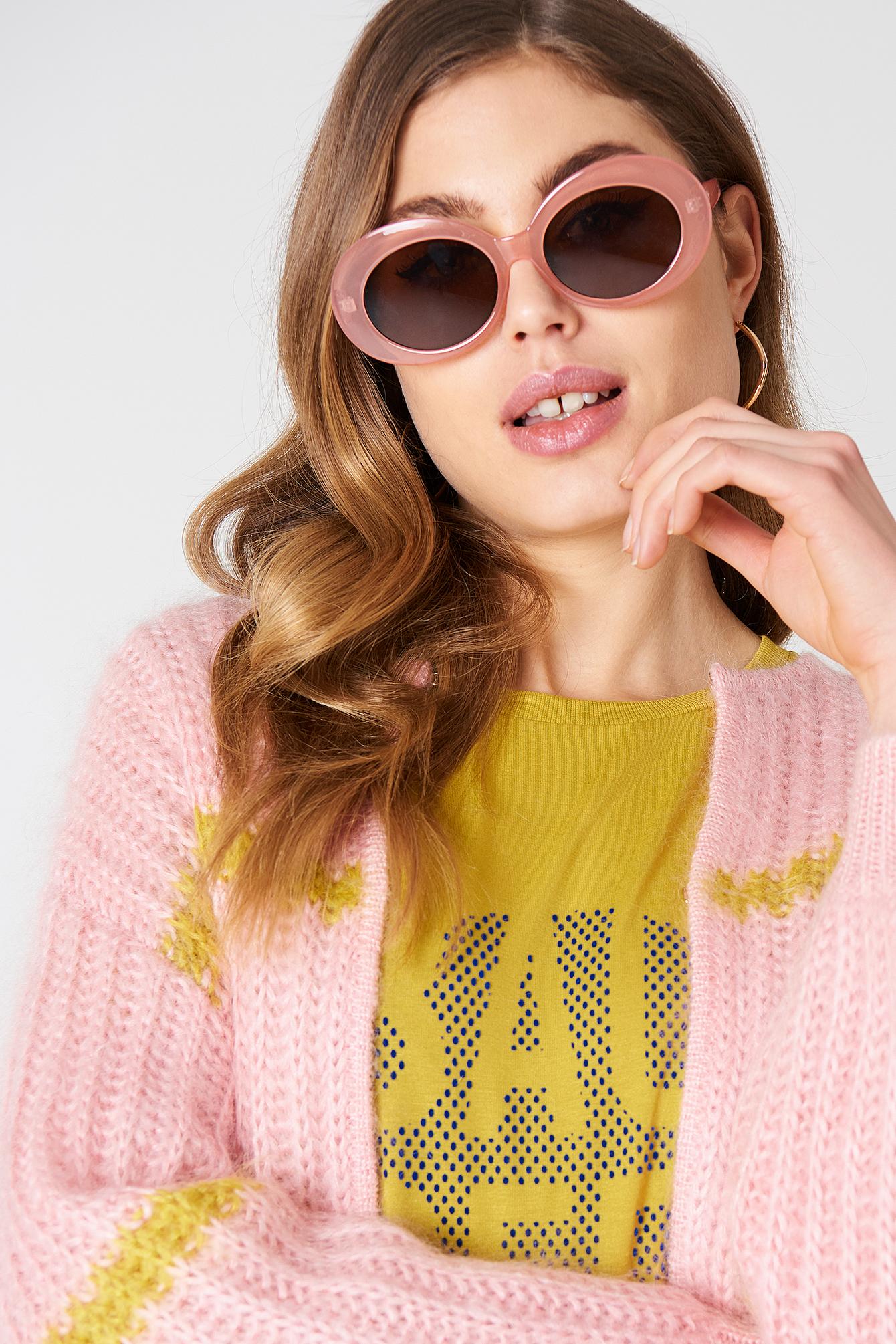 Owalne okulary przeciwsłoneczne NA-KD.COM