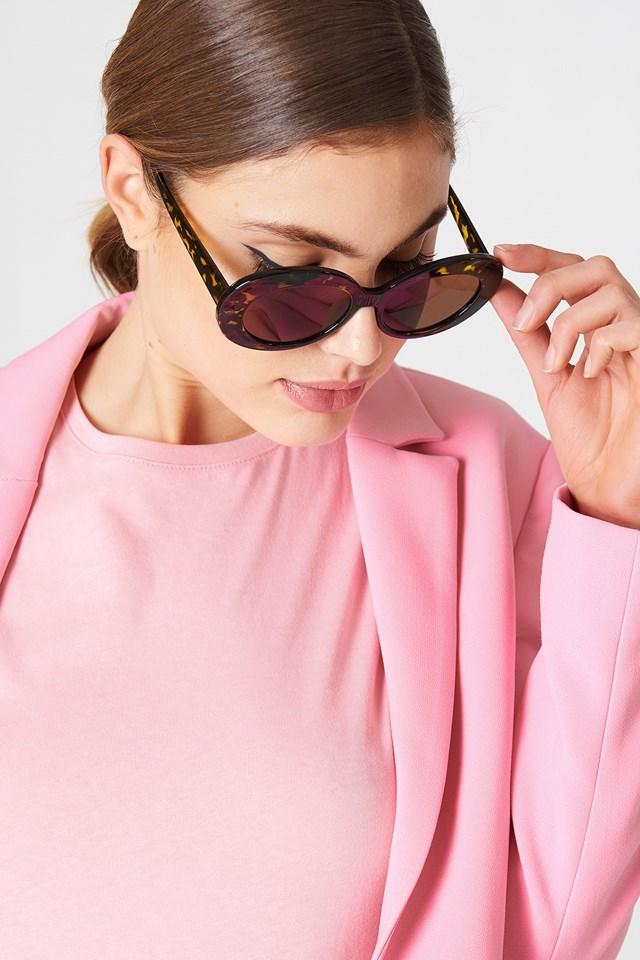 Oval Sunglasses Turtle